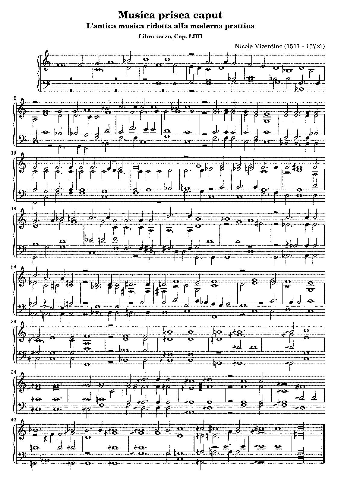 l u0027antica musica ridotta alla moderna prattica vicentino nicola