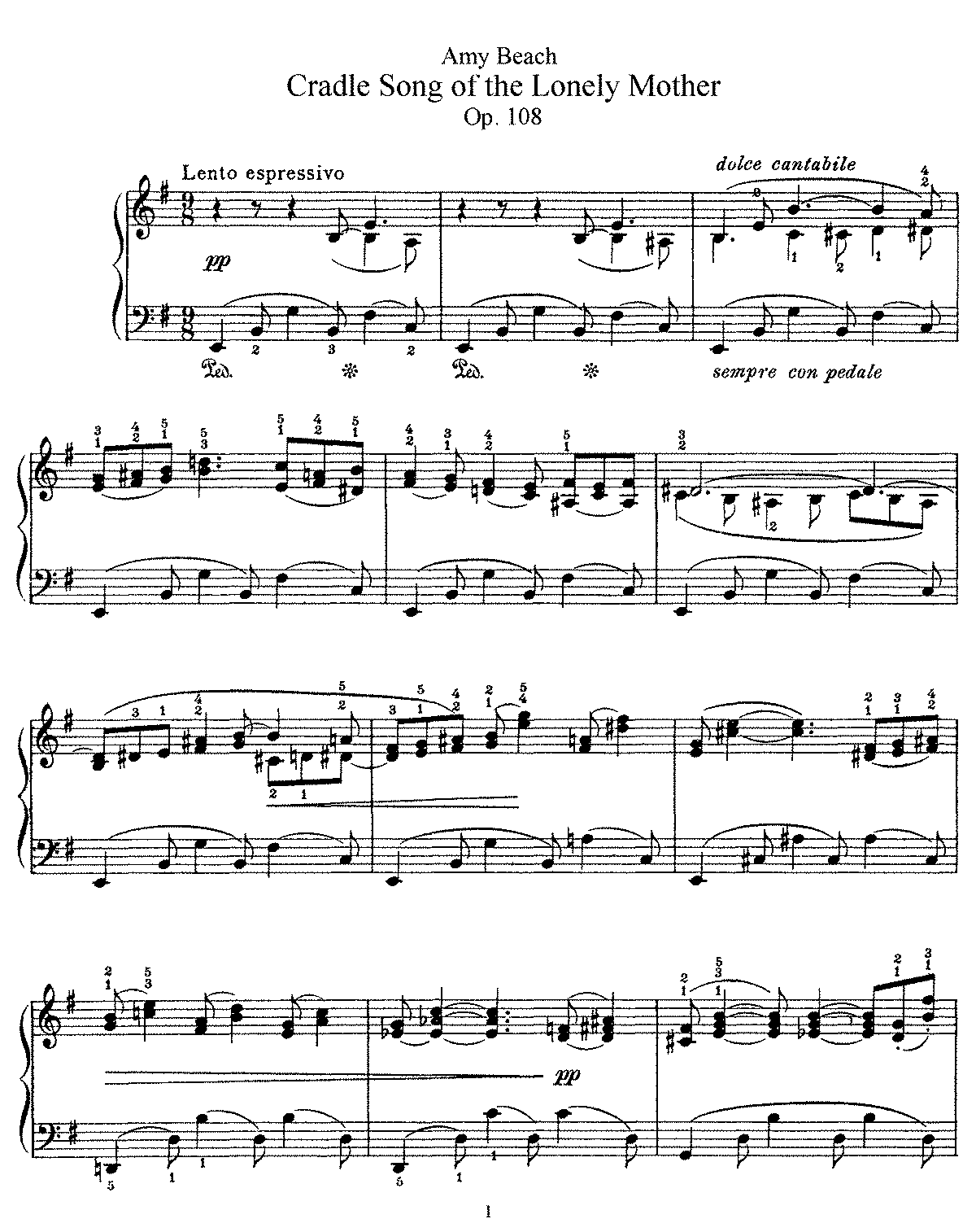 Beach - Op.108 - Cradle Song of the Lonely Mother.pdf