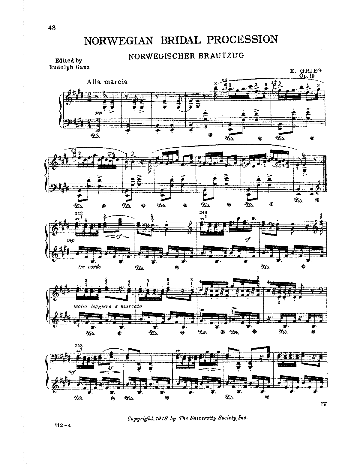 Grieg - Norwegian Bridal Procession, Op 19.pdf