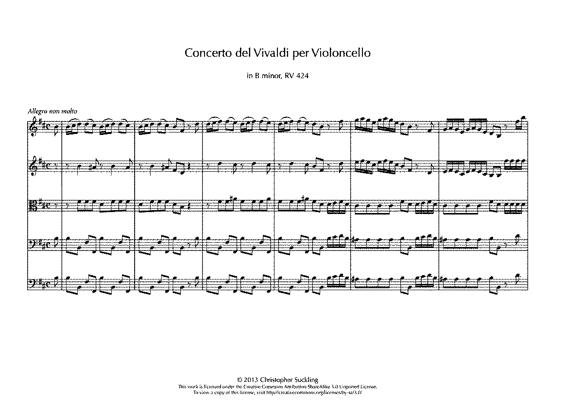 This Thing Called Life Quotes Cello Concerto In B Minor Rv 424 Vivaldi Antonio  Imslp