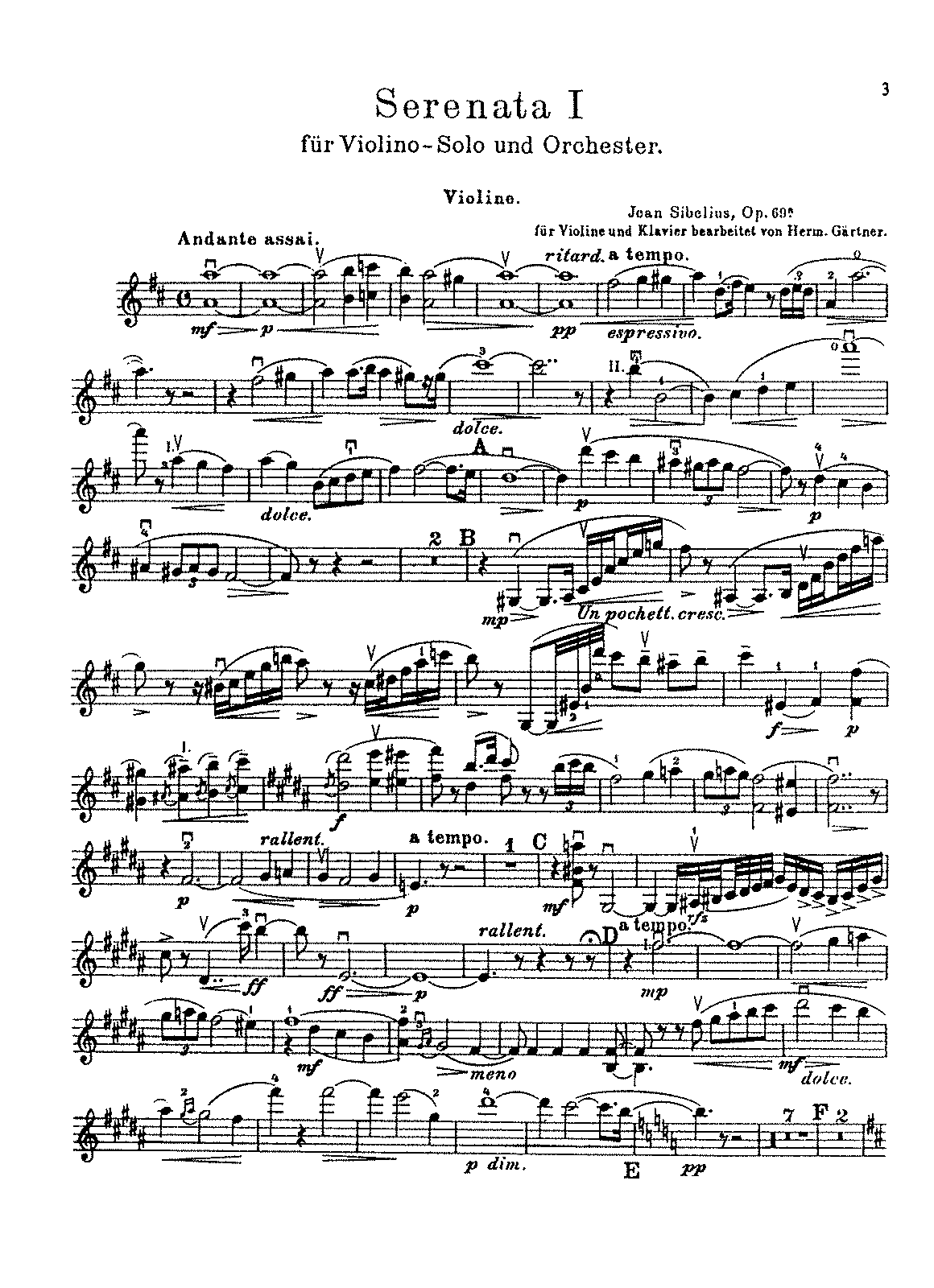 Sibelius - 2 Serenades for Violin and Orchestra, Op.69 (arr. Gärtner - violin and piano).pdf