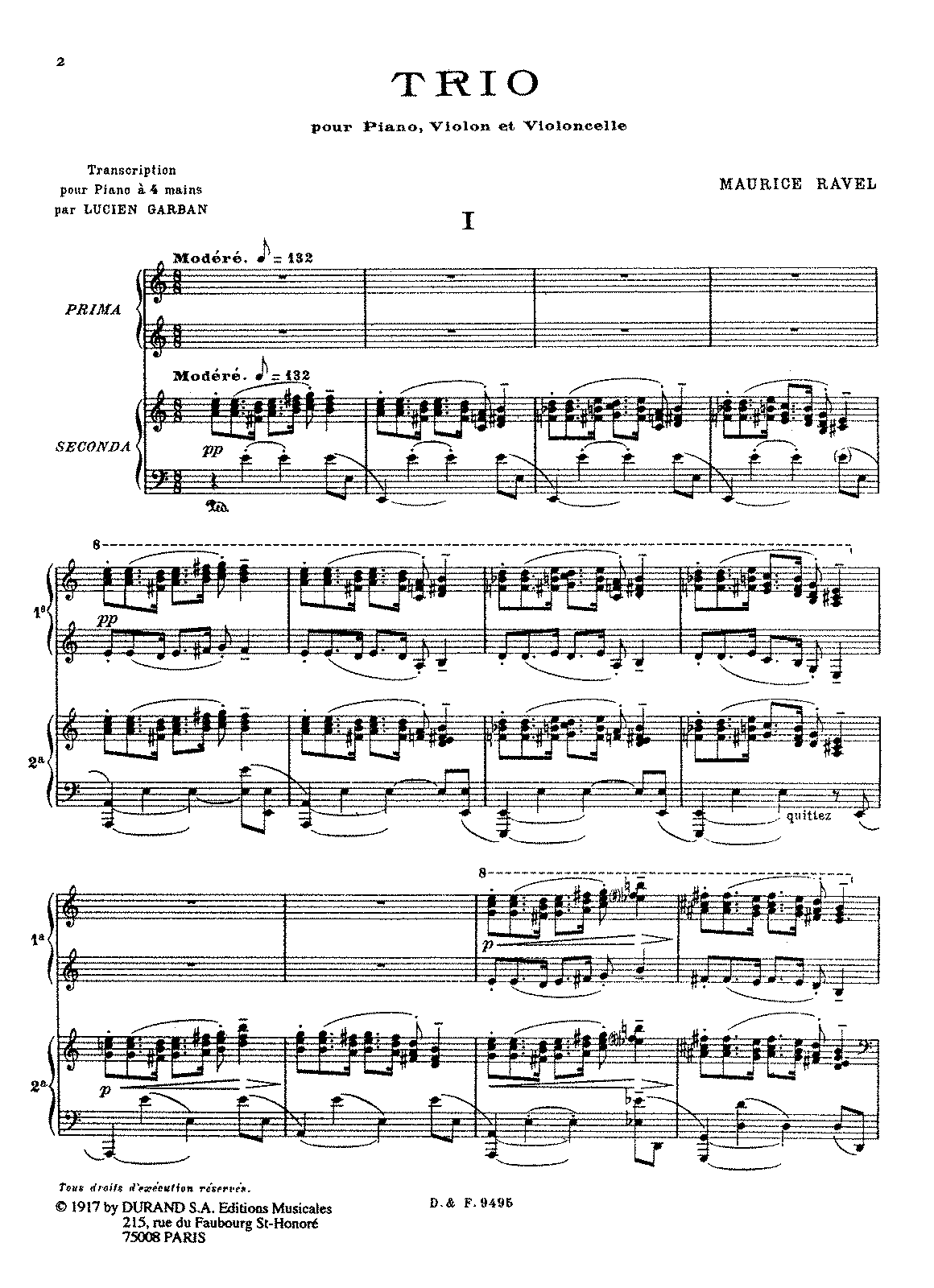PMLP04940-Ravel - Trio for violin, cello, and piano (trans. Garban - Piano 4 hands).pdf
