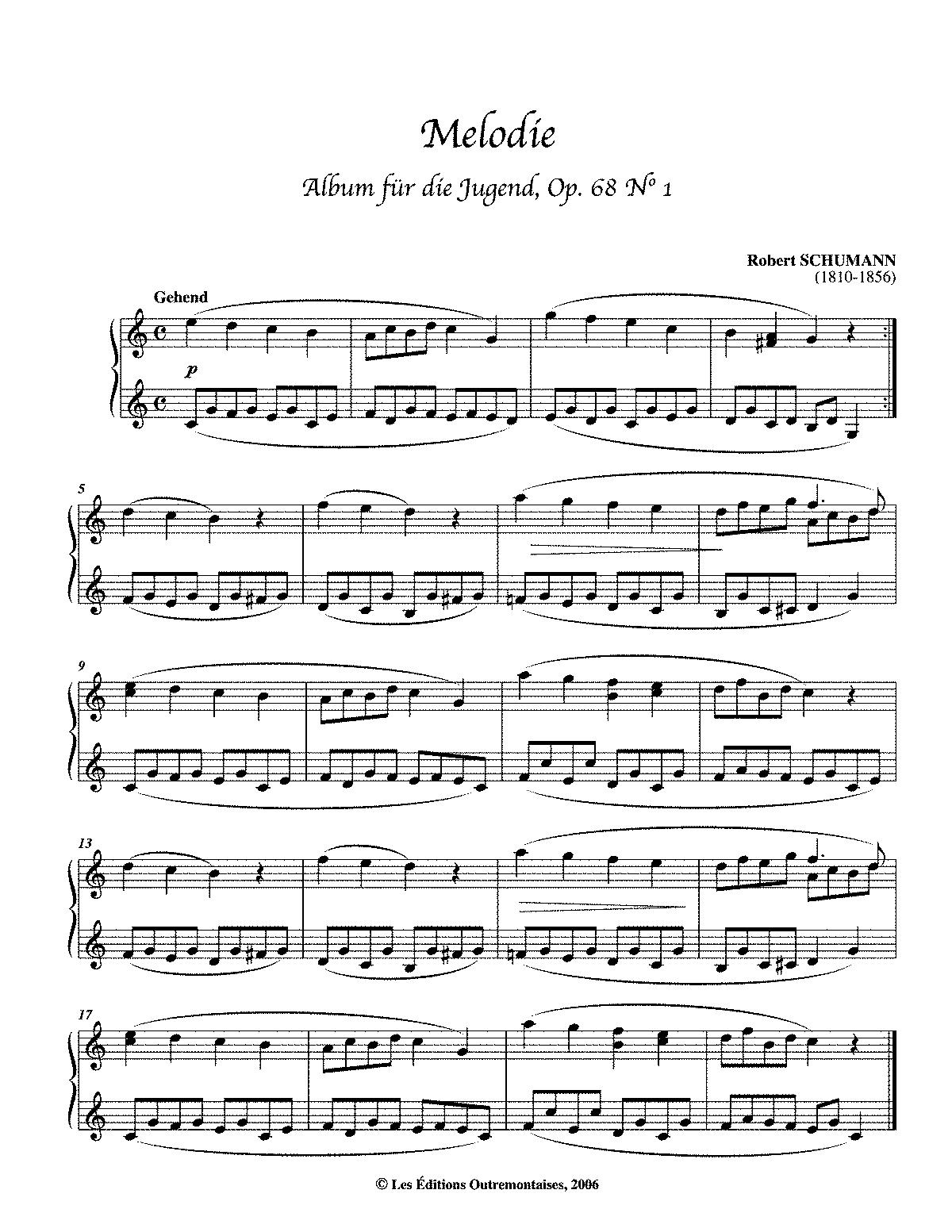 album für die jugend op 68 schumann robert imslp petrucci