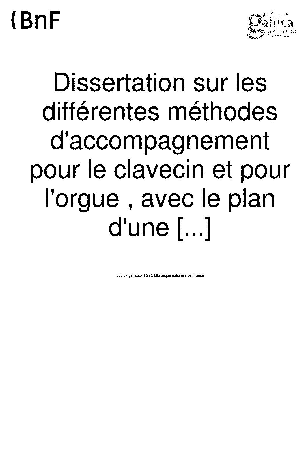 Dissertation sur