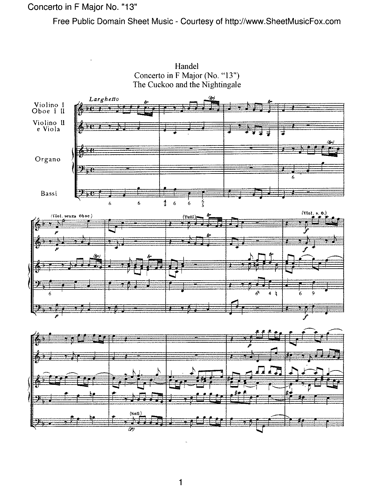 Handel - Concerto in F major, No '13'.pdf