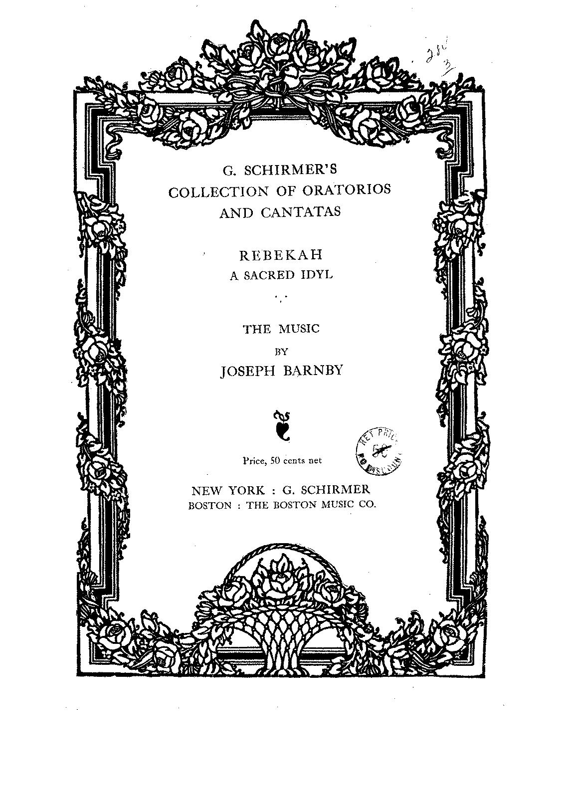 rebekah barnby joseph imslp petrucci music library free