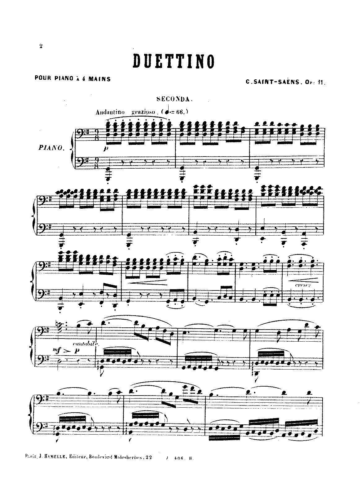 Saint-Saëns - Duettino, Op.11 (piano 4 hands).pdf