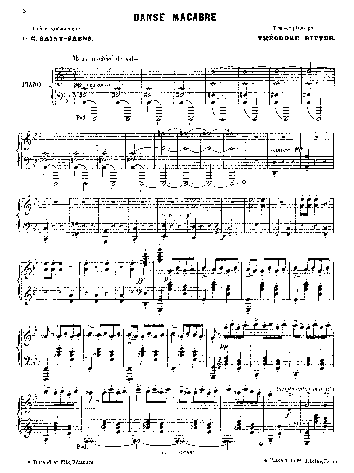 danse macabre sheet music pdf