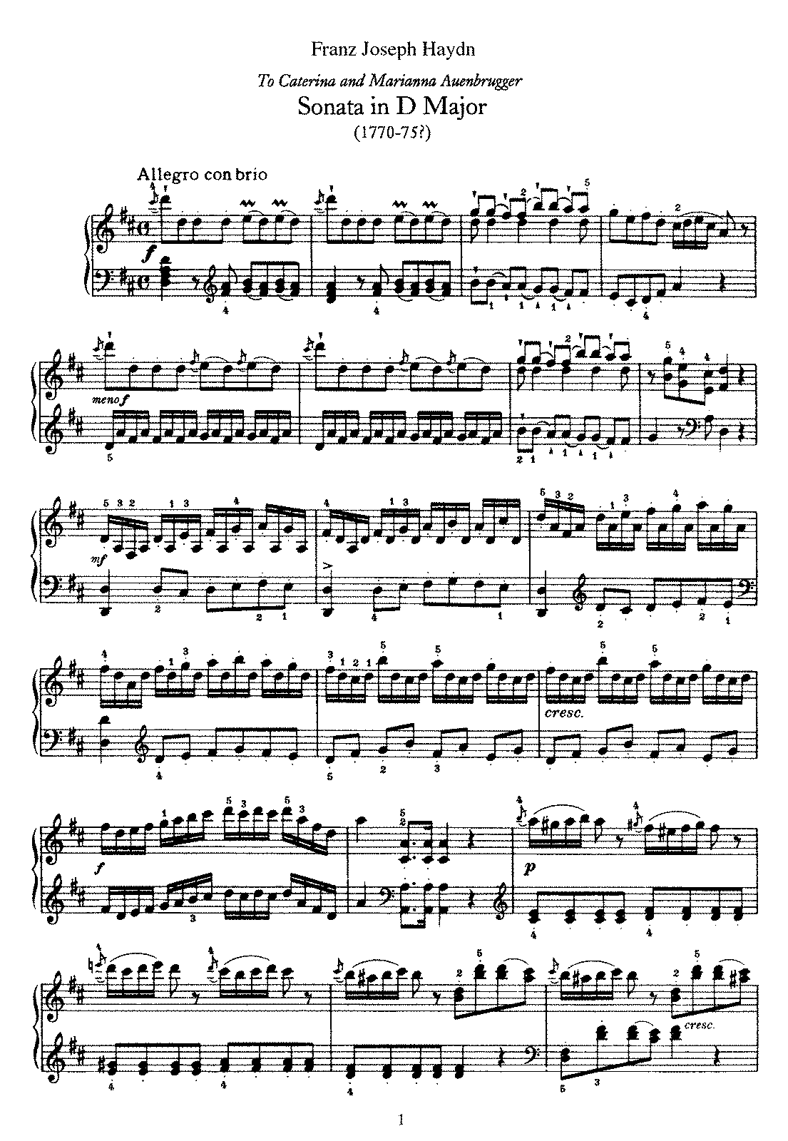 Haydn - Piano Sonata No 37 in D.pdf