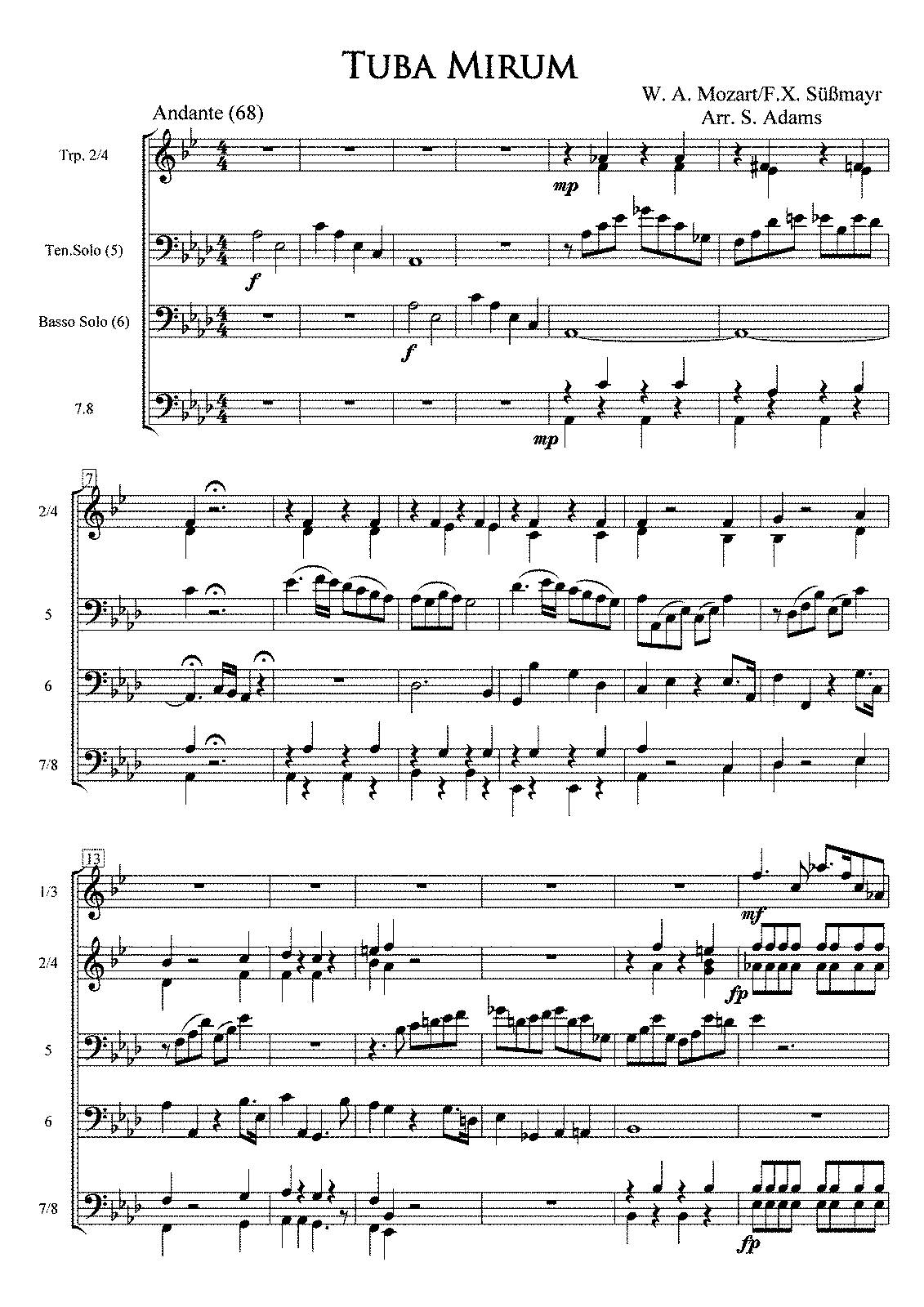 PMLP02751-Mozart Requiem 3 Tuba Mirum Full Score and Parts with Trp in Bb.pdf