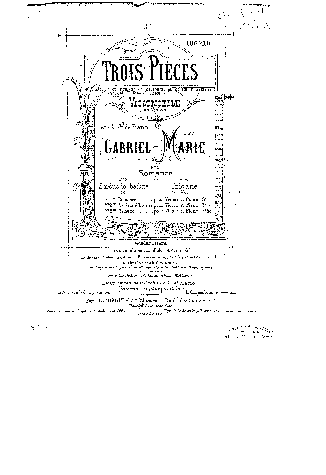 PMLP137549-Marie - Tzigane for Cello and Piano from 3 Pieces No3 score.pdf