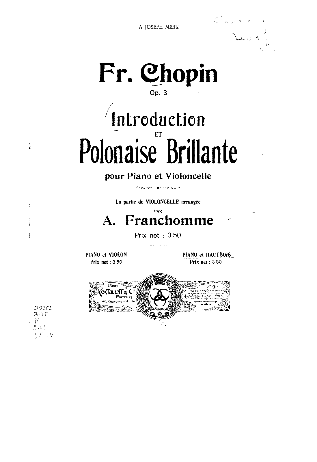 PMLP05649-Chopin - Introduction and Polonaise Brillante for Cello and Piano Op3 arr oboe by (Verroust) oboe.pdf