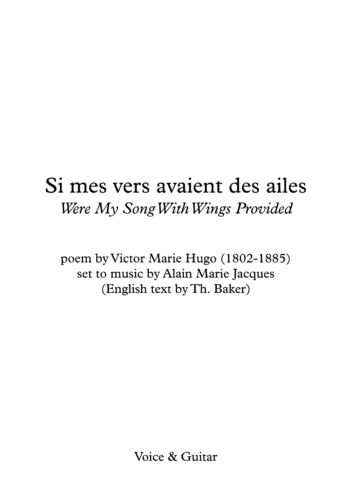 PMLP449668-Si mes vers avaient des ailes (Jacques - Victor Hugo) Guitar & English - last - Full Score.pdf