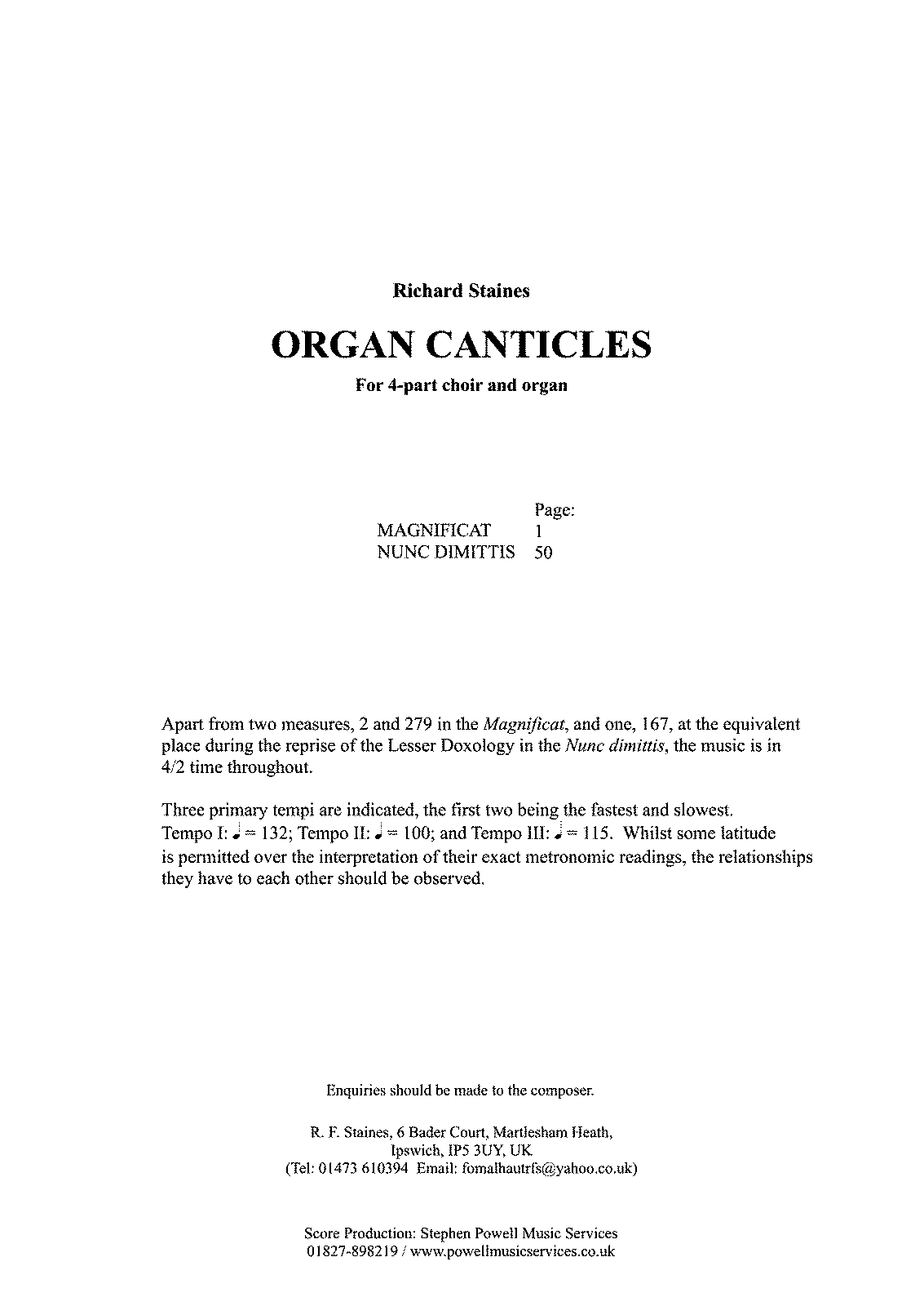 PMLP679181-Richard Staines - Organ Canticles For 4-part Choir and Organ.pdf