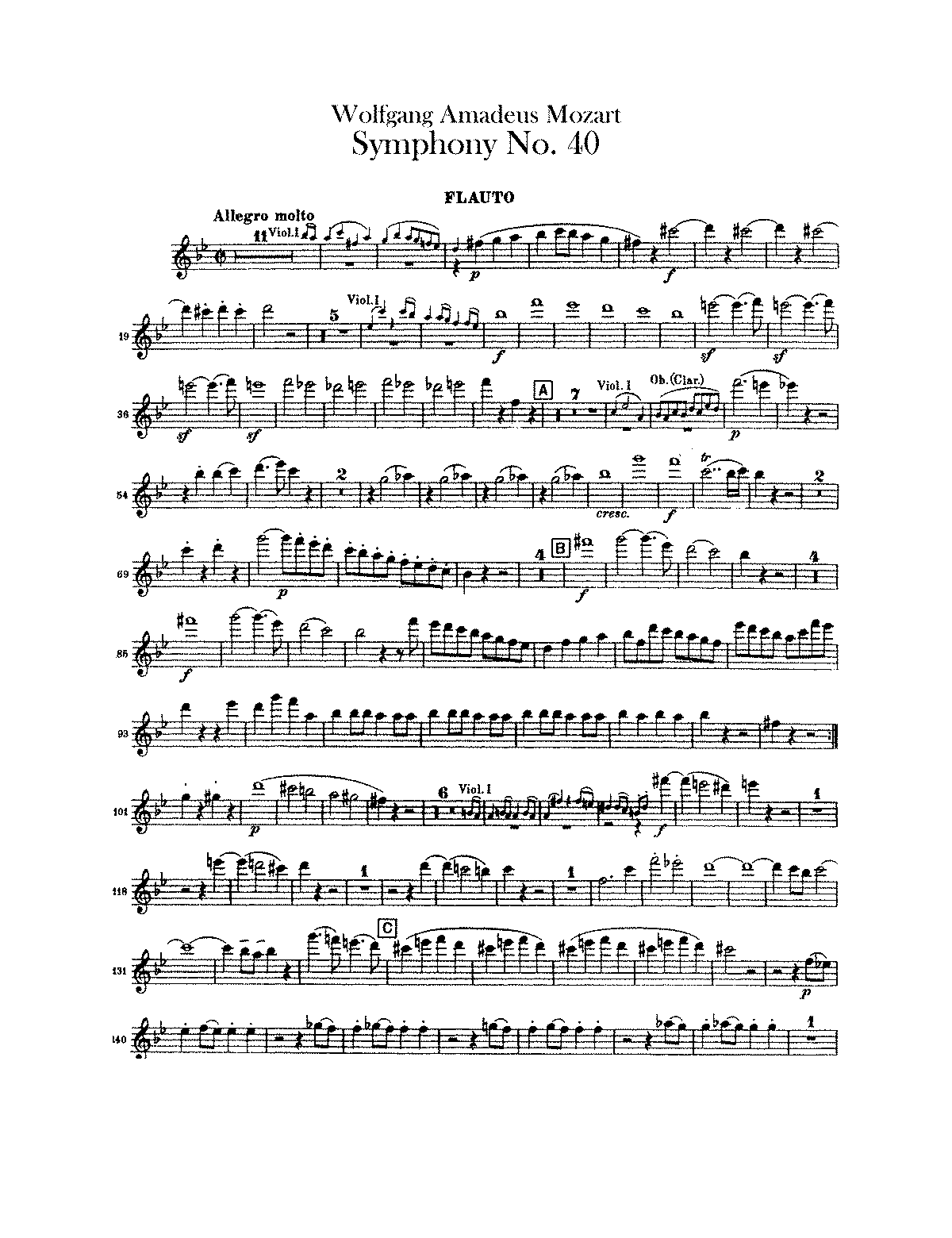 mozart symphony 40 violin sheet music pdf