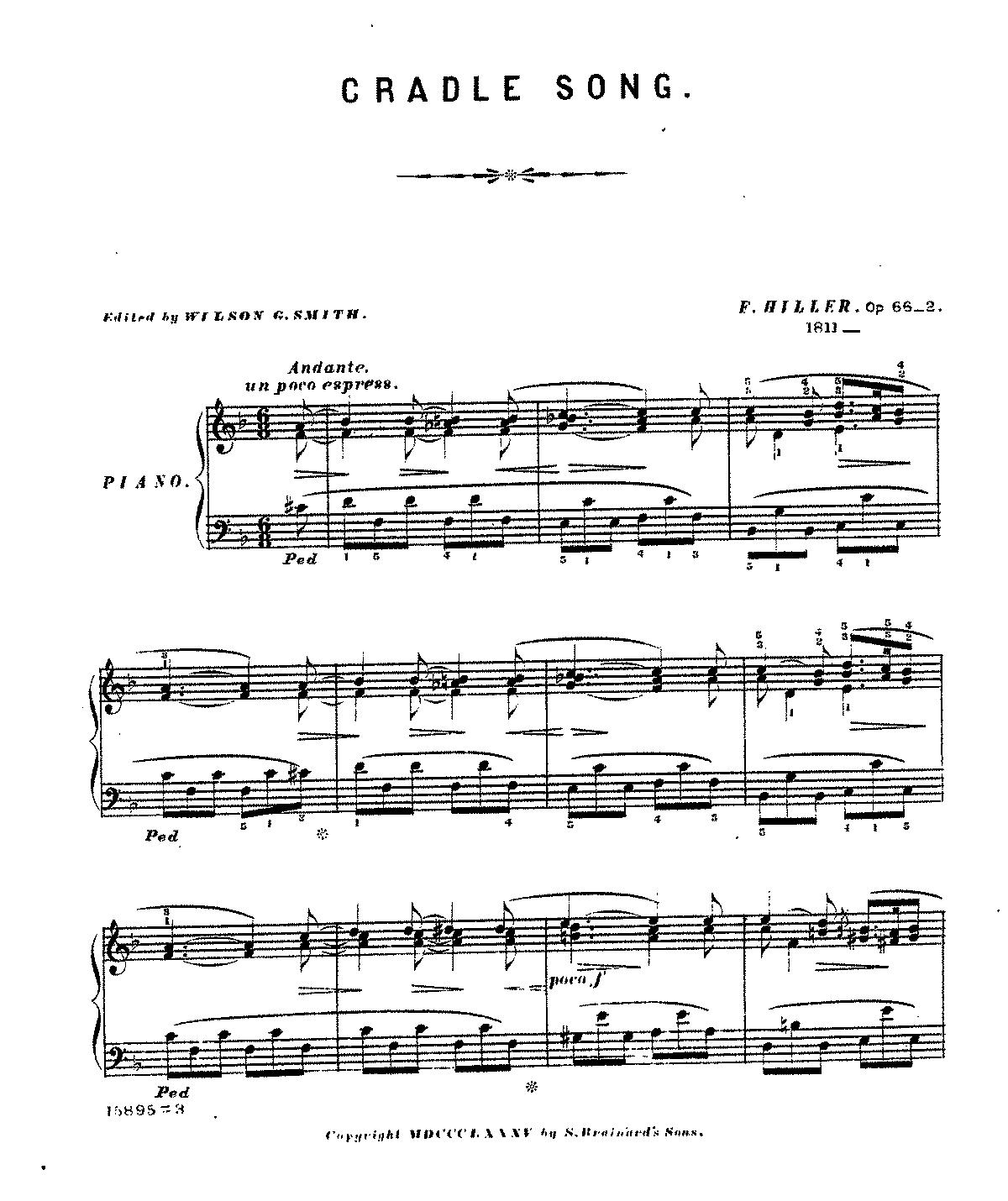 Free Sheet Music Public Domain: Vermischte Klavierstücke, Op.66 (Hiller, Ferdinand