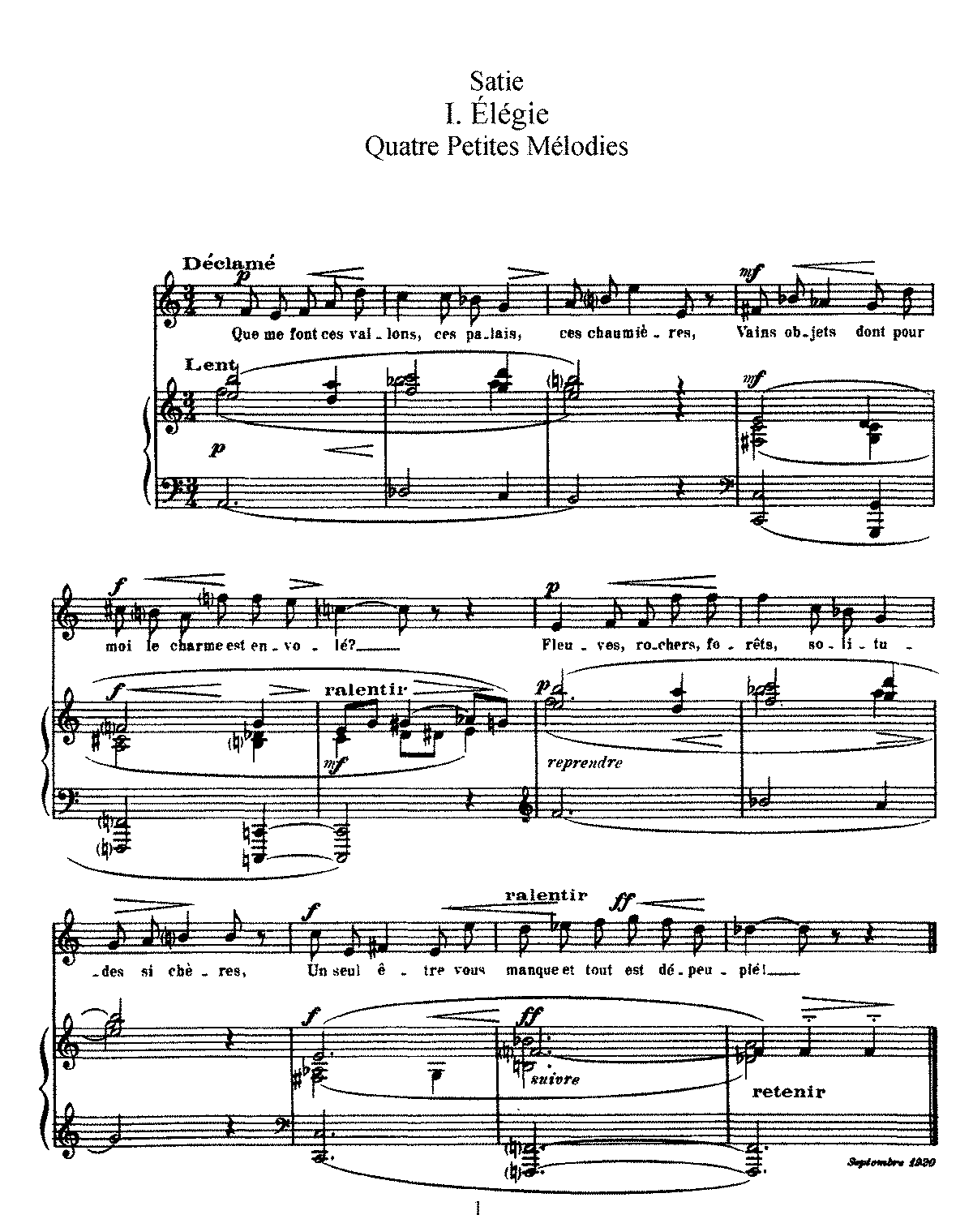 Satie - 4 petites mélodies (voice and piano).pdf