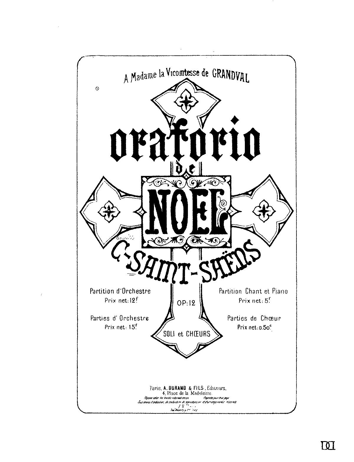 Oratorio de Noël, Op.12 (Saint-Saëns, Camille) - IMSLP/Petrucci ...