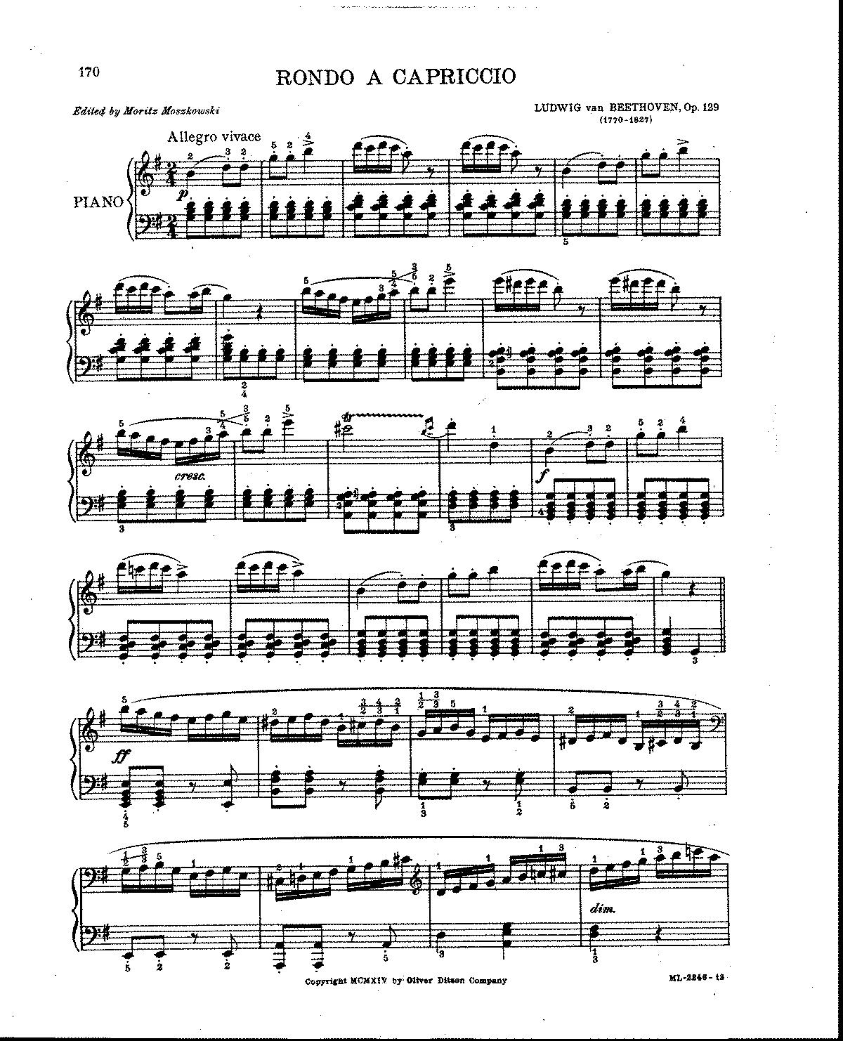 Rondo A Capriccio, Op.129 (Beethoven, Ludwig Van)