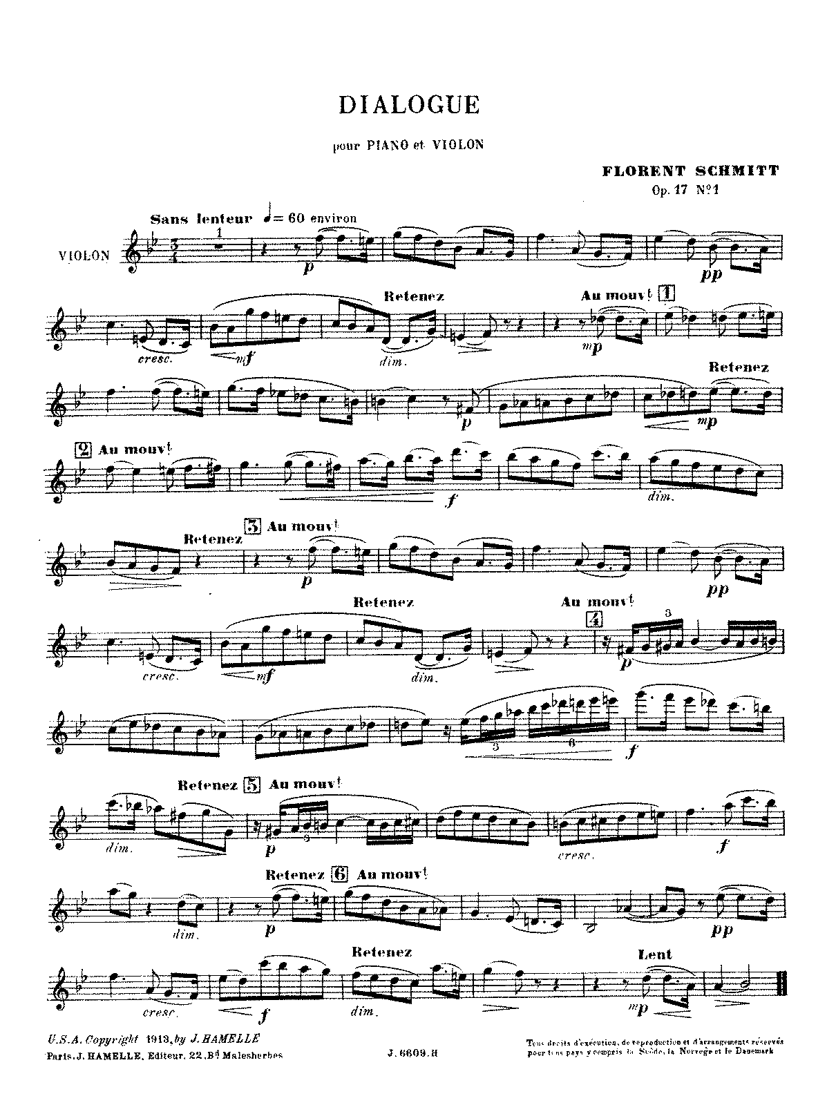 PMLP55465-Schmitt - 5 Pièces, Op. 19, No. 3 - Dialogue (violin or cello and piano).pdf