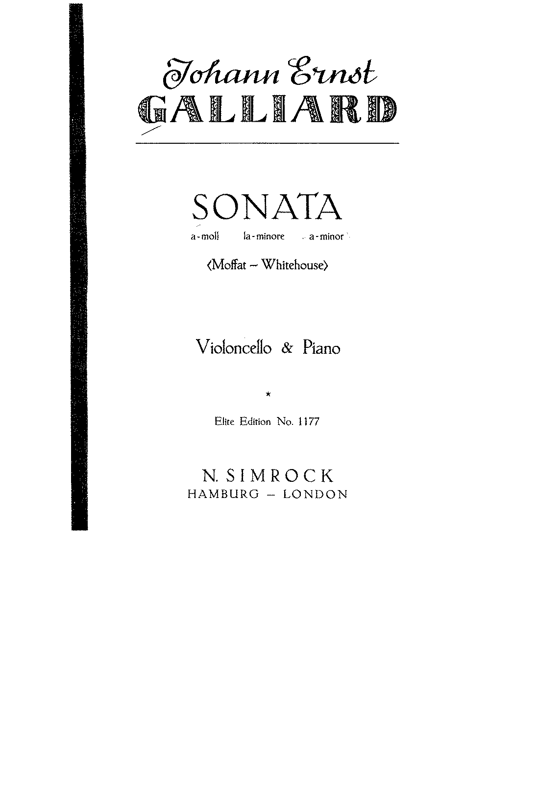 PMLP79372-Galliard - Sonata in A minor for Cello and Piano (c1730) (Moffat) score.pdf