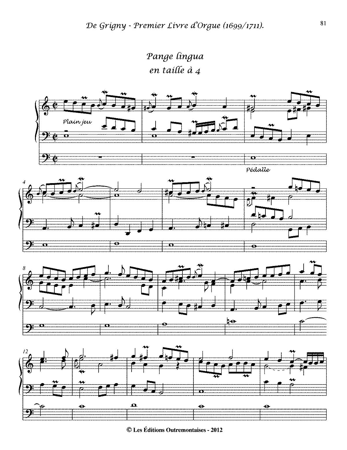 Pange lingua (Grigny, Nicolas de) - IMSLP/Petrucci Music Library ...