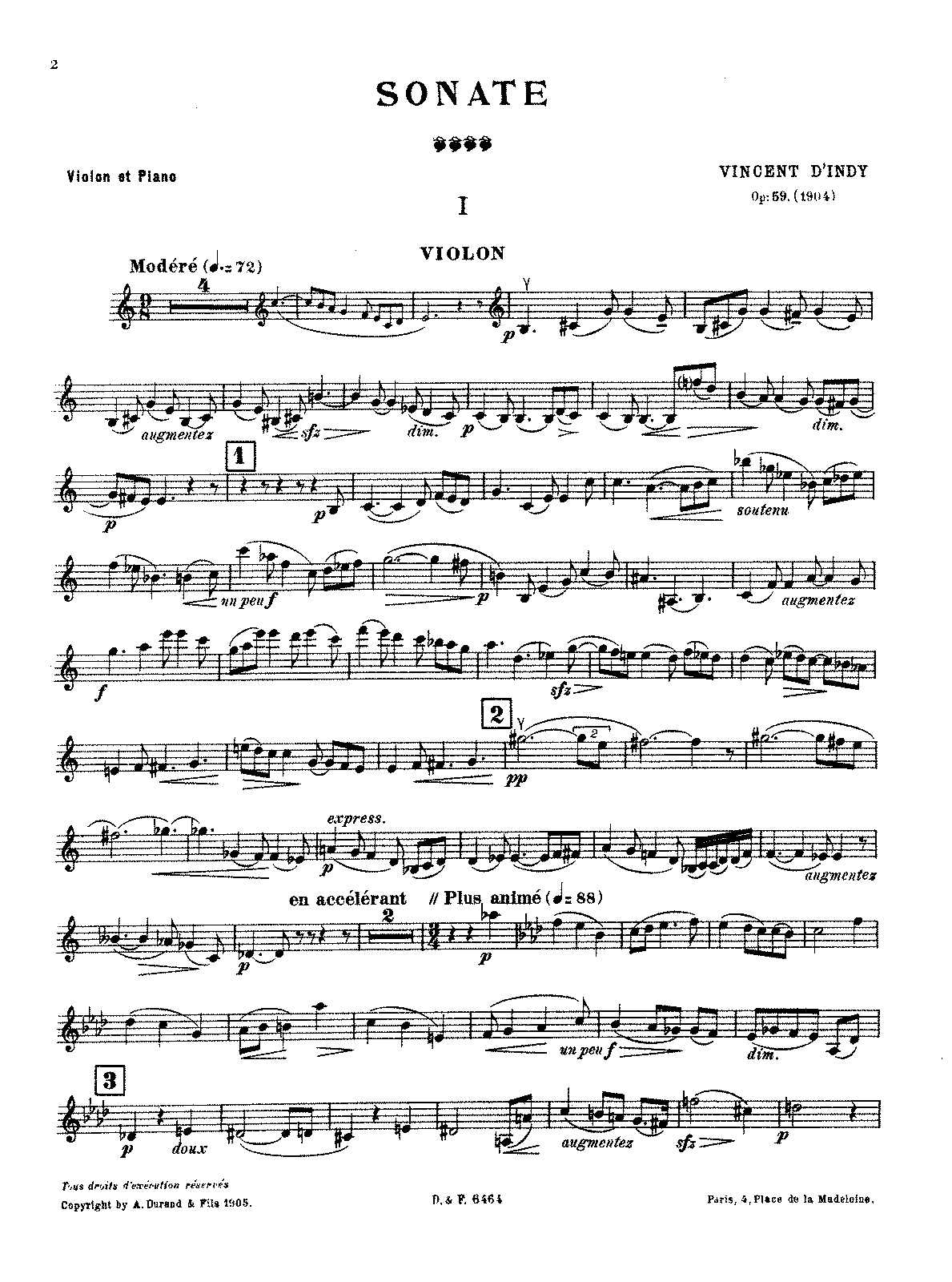 D'Indy - Sonata for Violin and Piano, Op. 59.pdf