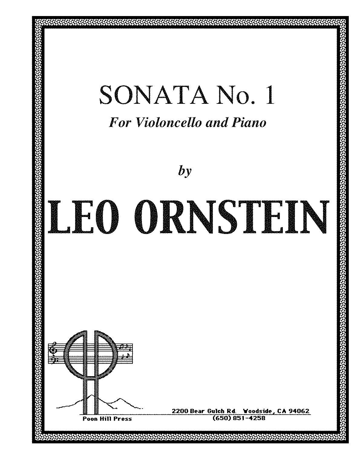 Leo Ornstein - s612 - Cello Sonata No 1 - Score Part.pdf