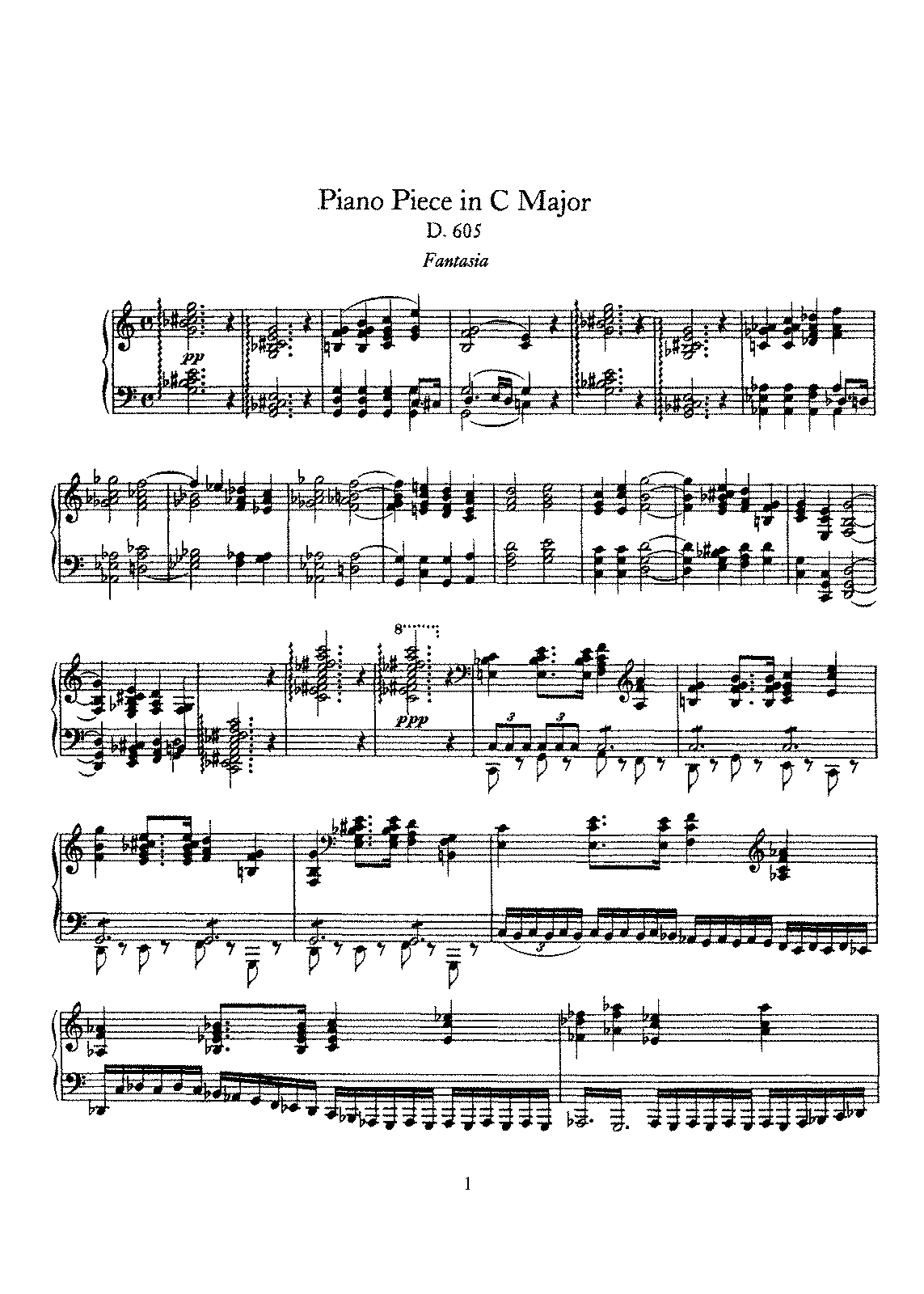 Schubert - D.605 - Piano Piece in C Major.pdf