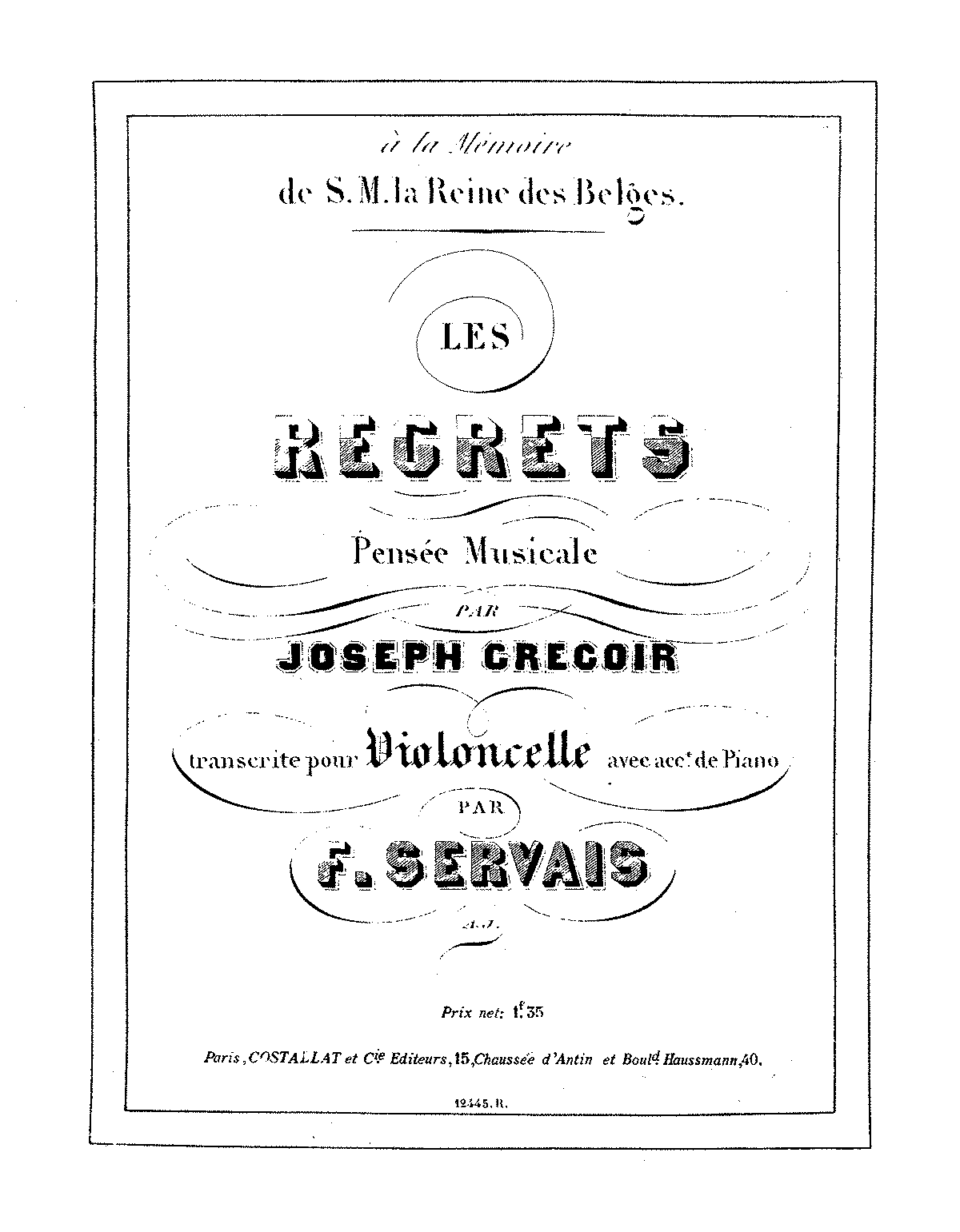 PMLP428074-Gregoir - Les Regrets, Pense Musicale (Servais) for cello and piano PNO.pdf