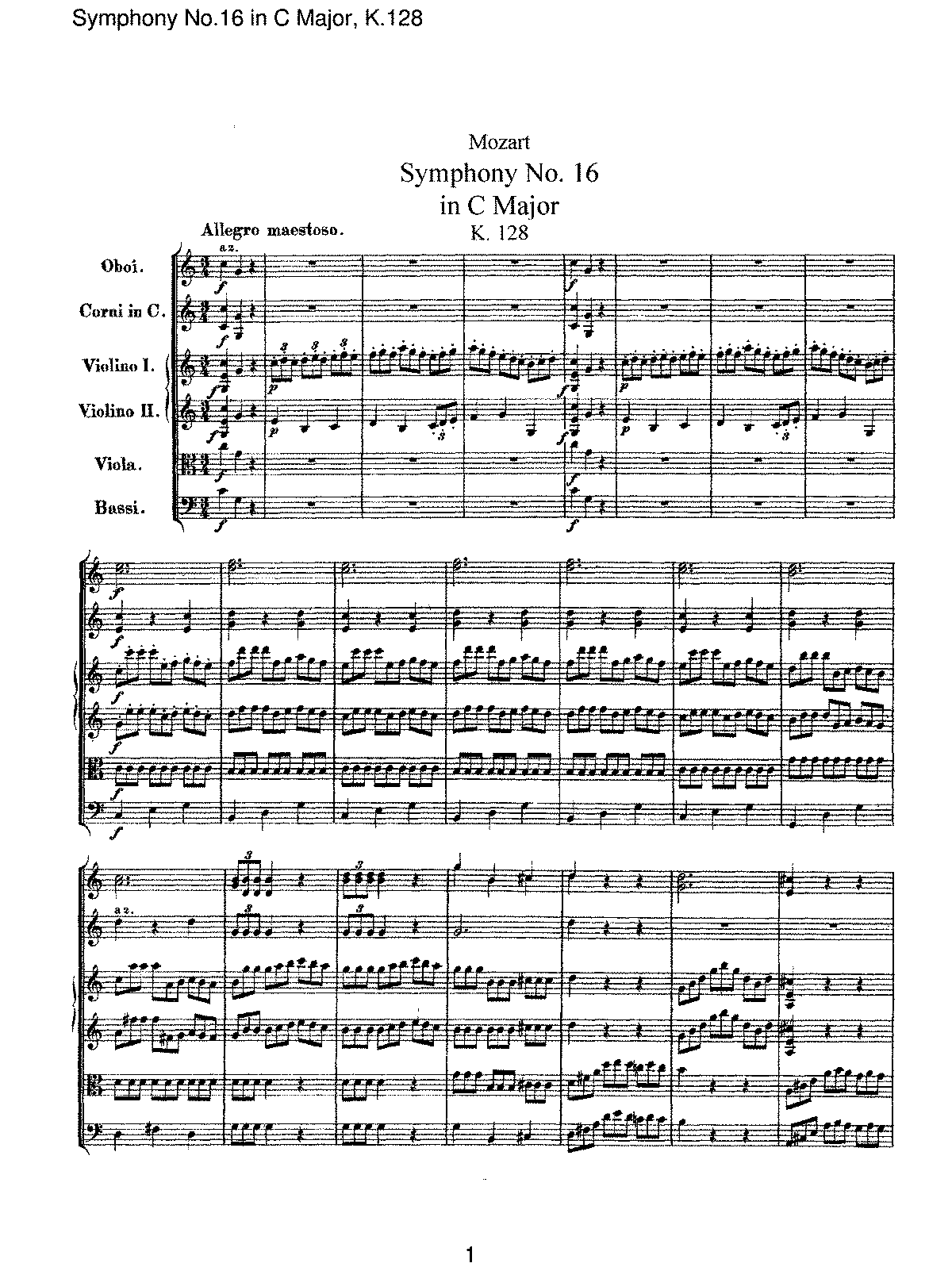 Mozart - Symphony No 16 in C Major, K128.pdf