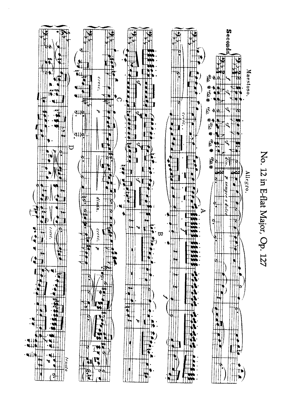 Beethoven - String Quartet No. 12 (Arr. for Piano 4 h.).pdf