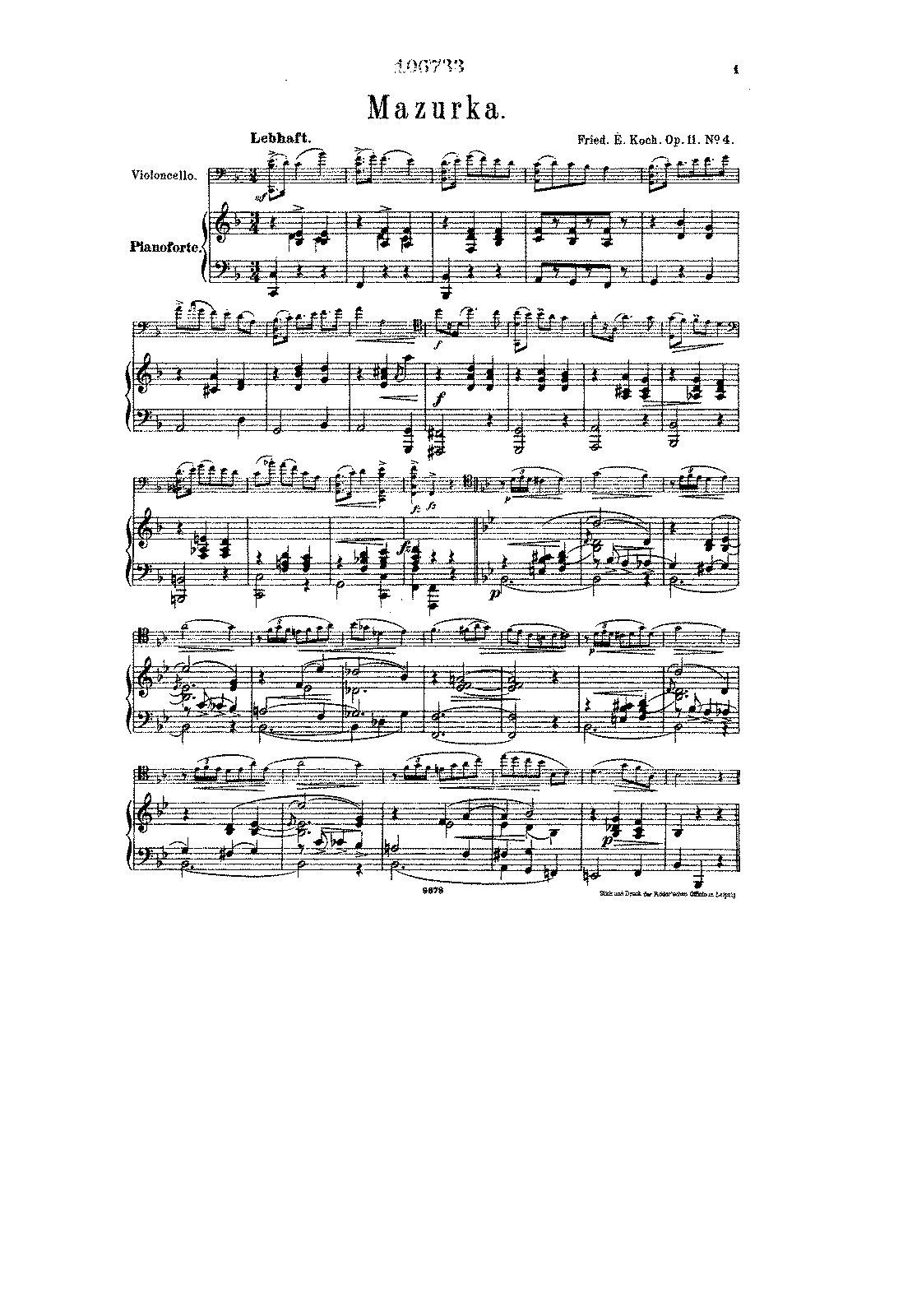 PMLP137734-Koch - Mazurka for Cello and Piano Op11 No4 (from 4 Tanzstucke) score.pdf