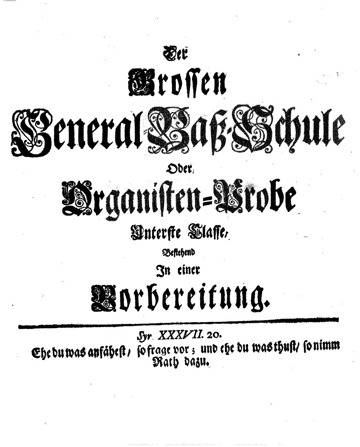 Grosse General-Baß-Schule (Mattheson, Johann) - IMSLP/Petrucci Music ...