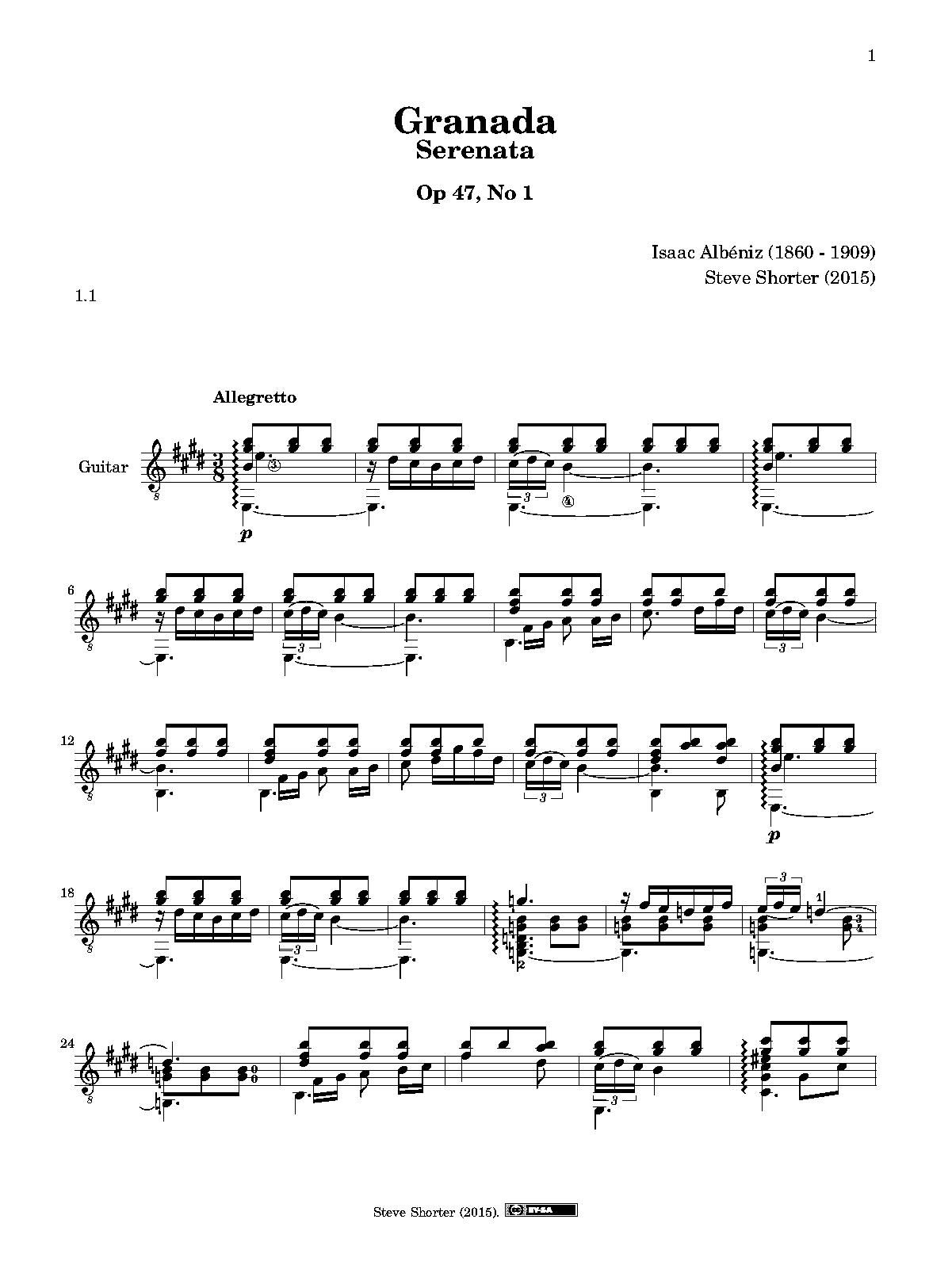 albeniz suite espanola guitar pdf