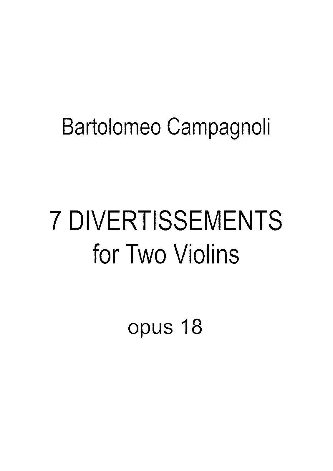 Campagnoli - 7 Divertissements For 2 Violins Op18.pdf