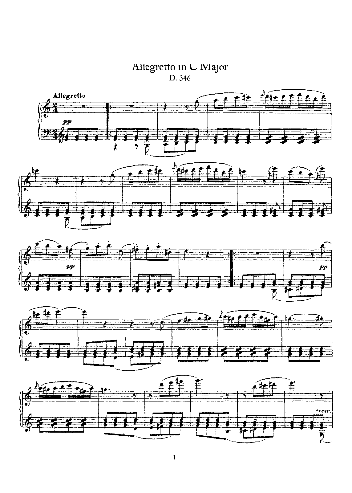 Schubert - D.346 - Allegretto in C Major.pdf