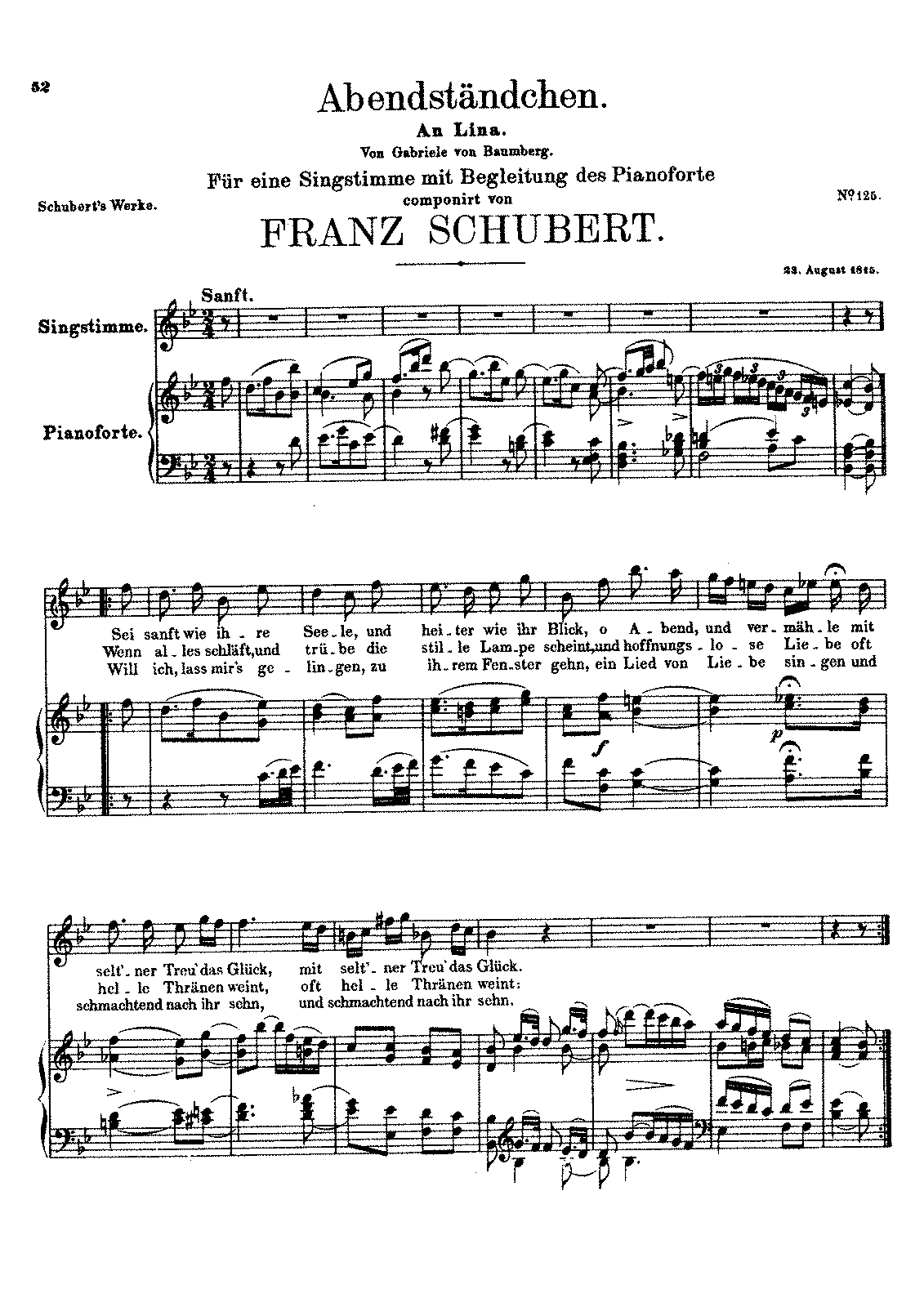 Abendstndchen d265 schubert franz imslppetrucci music general information hexwebz Image collections