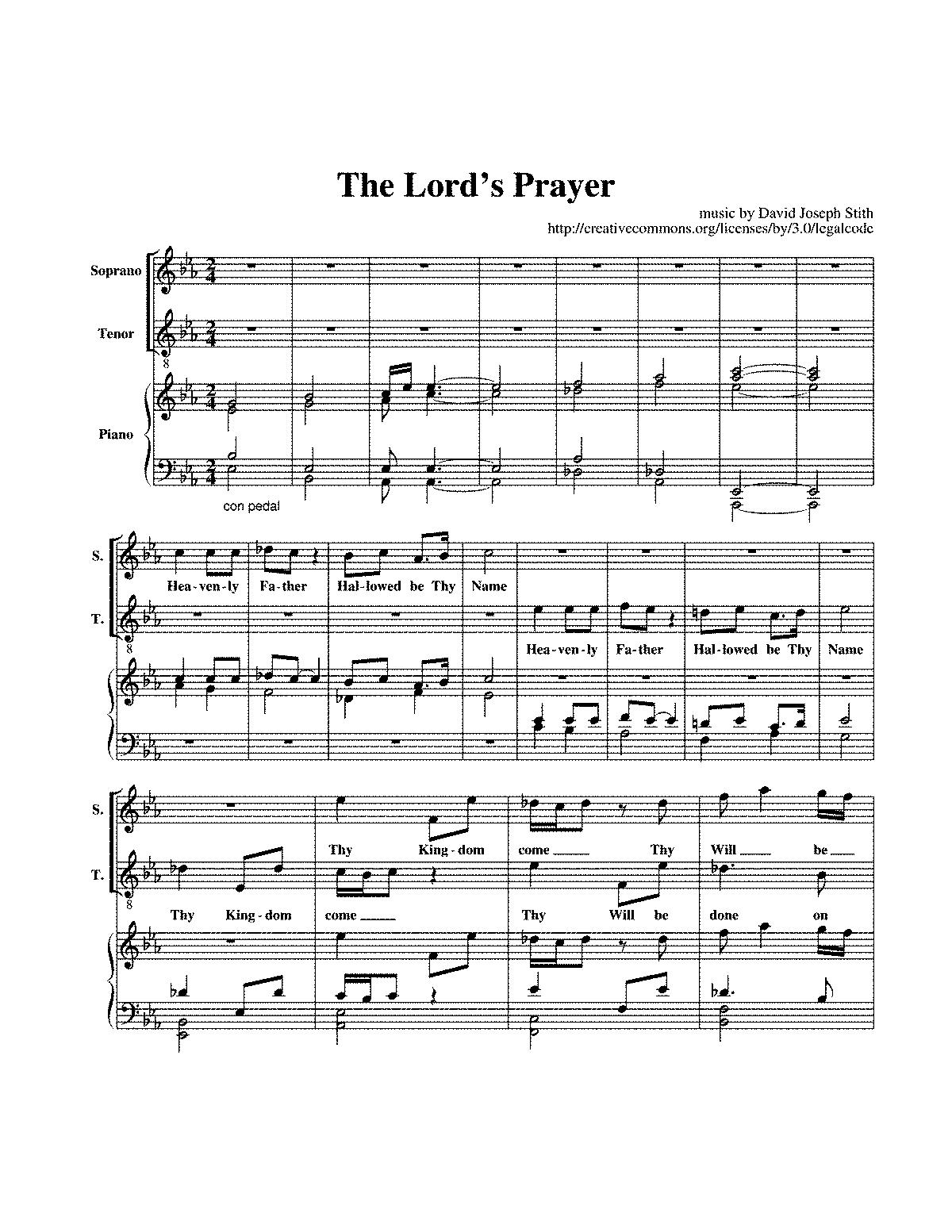 the lord u0027s prayer stith david joseph imslp petrucci music