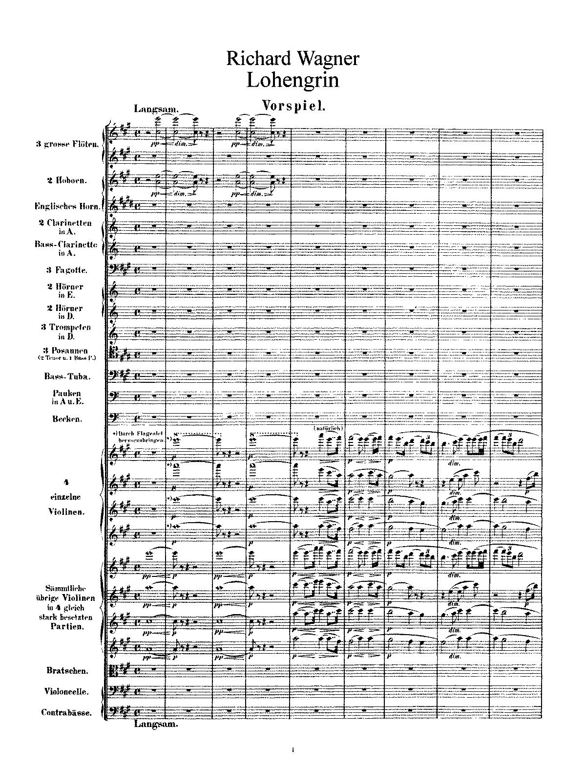 Lohengrin WWV 75 Wagner Richard