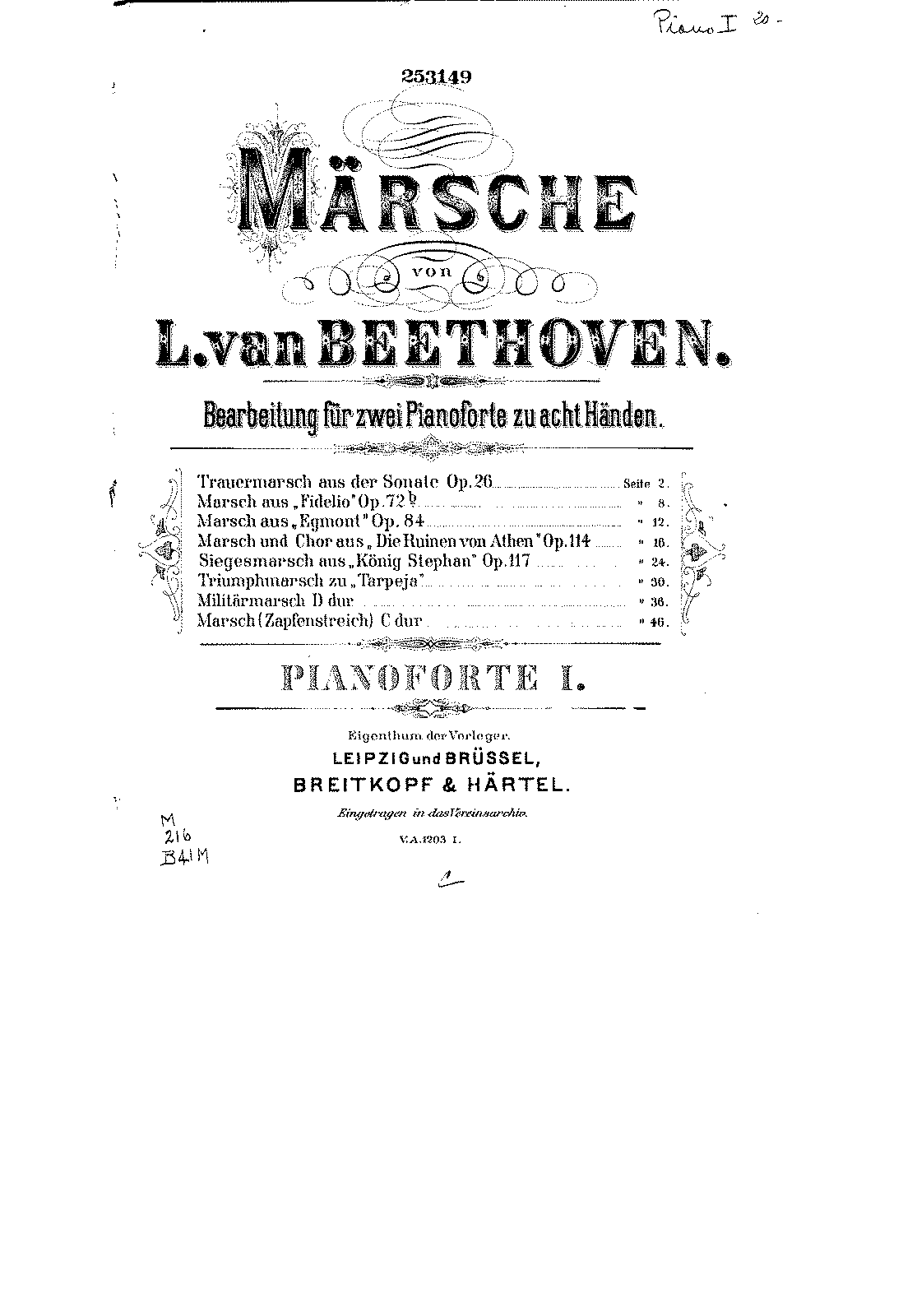 PMLP02711-Beethoven - Marche Egmont - 2 Pianos 8 mains piano 1.pdf