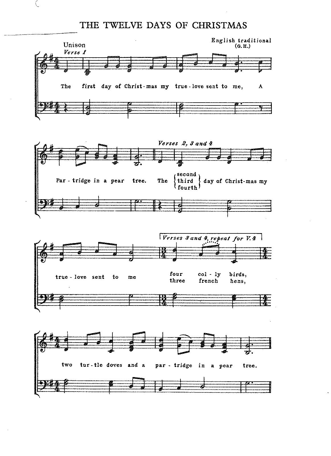 The Twelve Days of Christmas (Holst, Gustav) - IMSLP/Petrucci Music Library: Free Public Domain ...