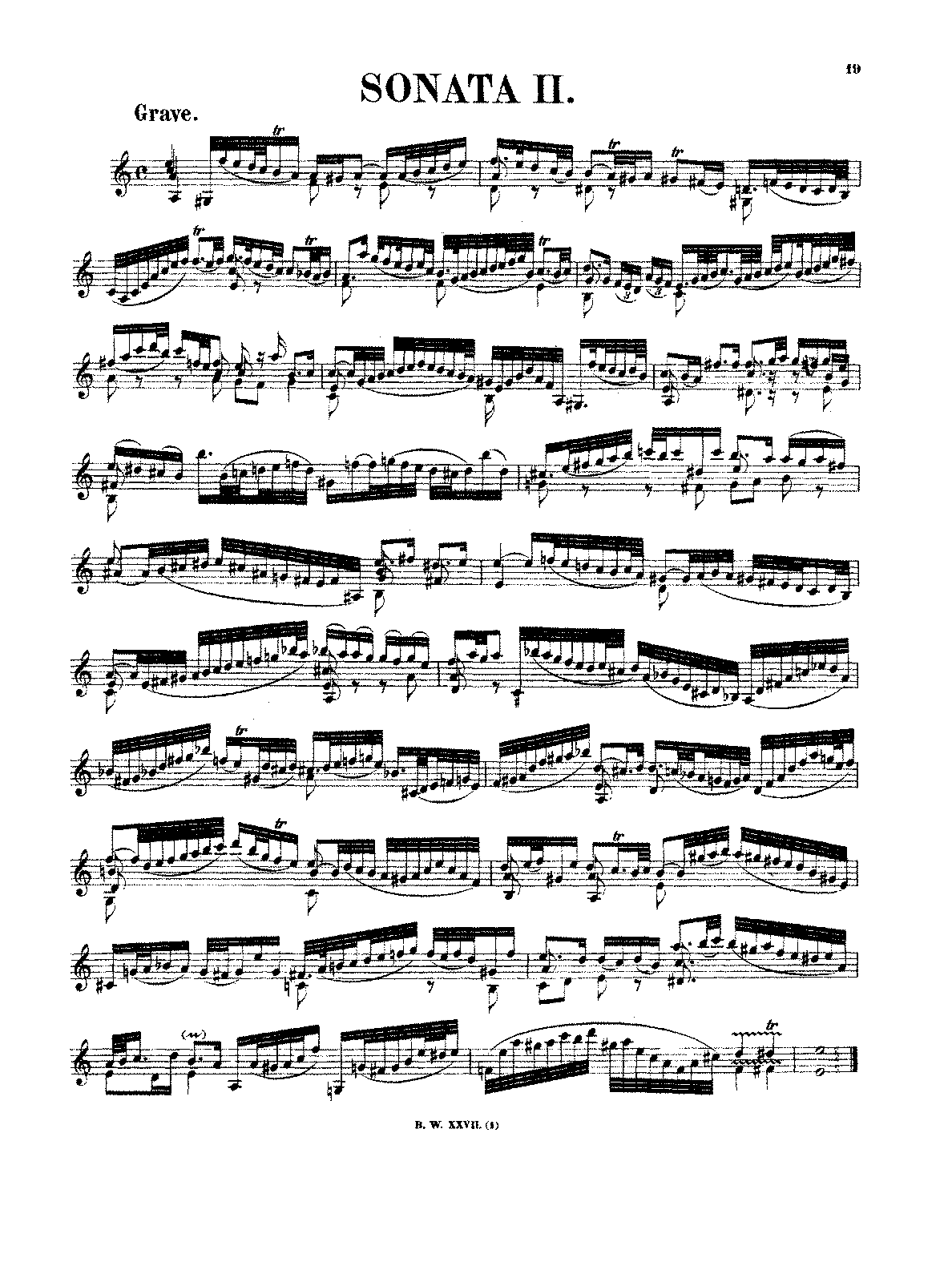 Violin Sonata No.2 in A minor, BWV 1003 (Bach, Johann Sebastian ...
