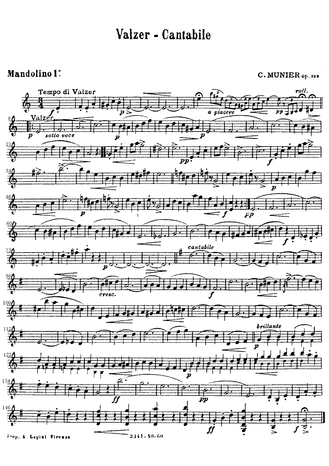 PMLP656846-Valzer - Cantabile, Nelly Album Ⅲ.Valzer - Cantabile Op.192 C.Munier Mandolino 1º. part.pdf