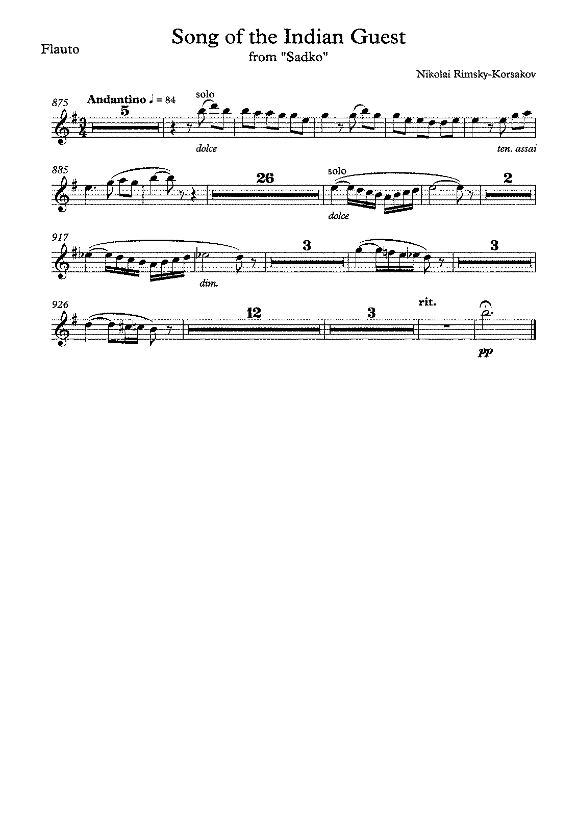 PMLP22160-RIMSKY-KORSAKOV Song of the Indian Guest - Flauto.pdf