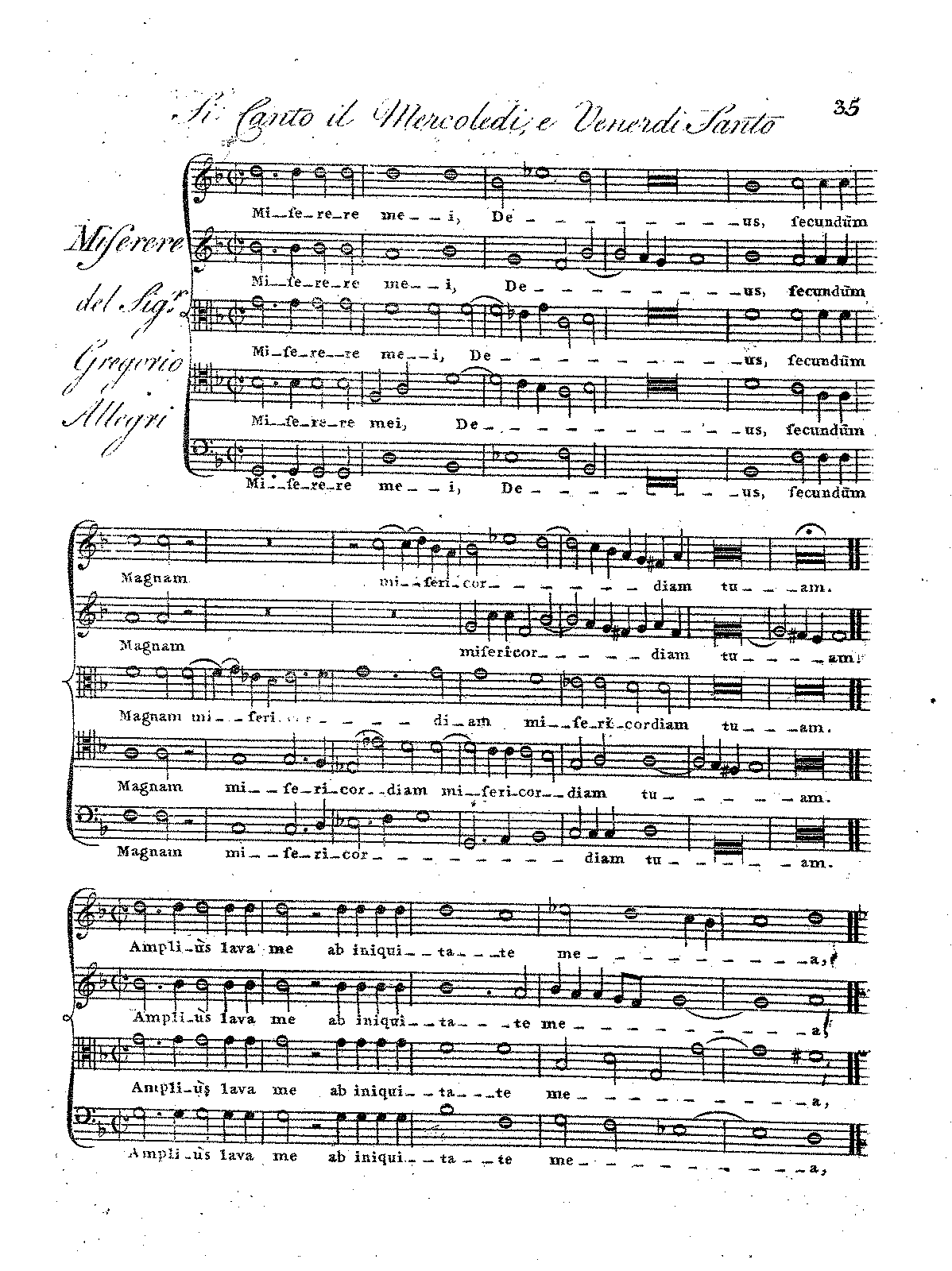 Miserere allegri gregorio imslppetrucci music library free complete score hexwebz Images