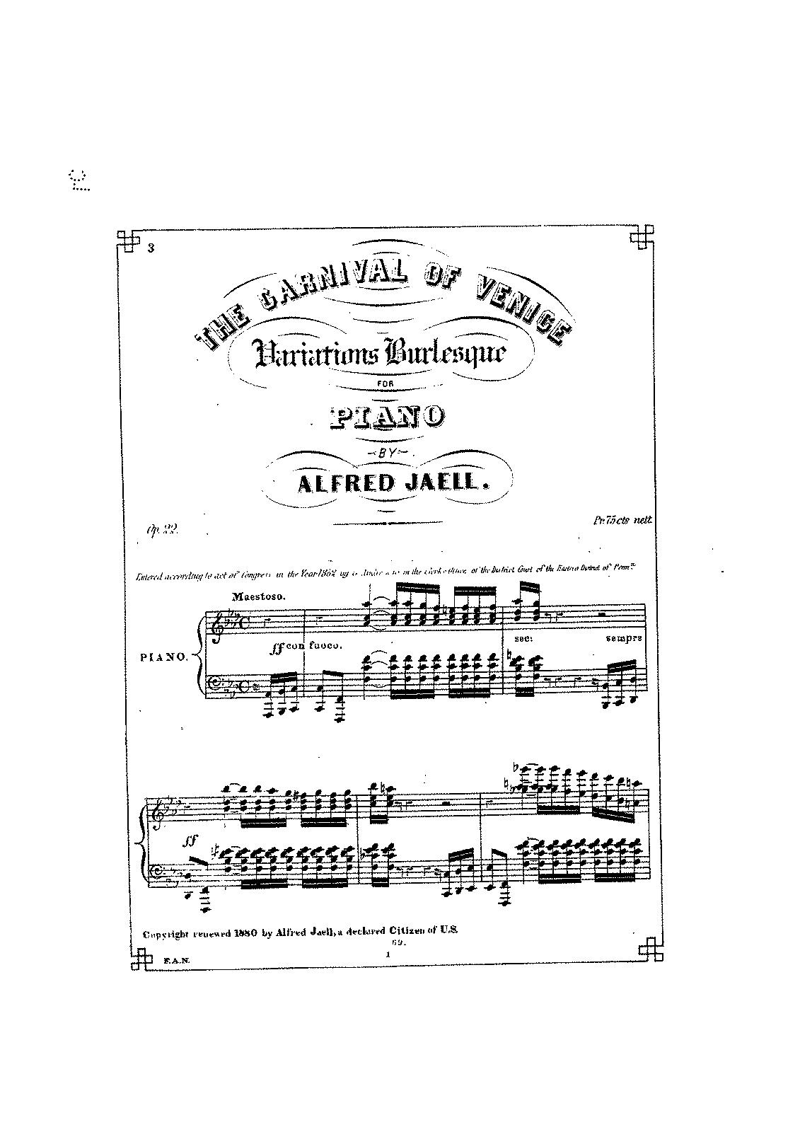 carnival of venice sheet music pdf
