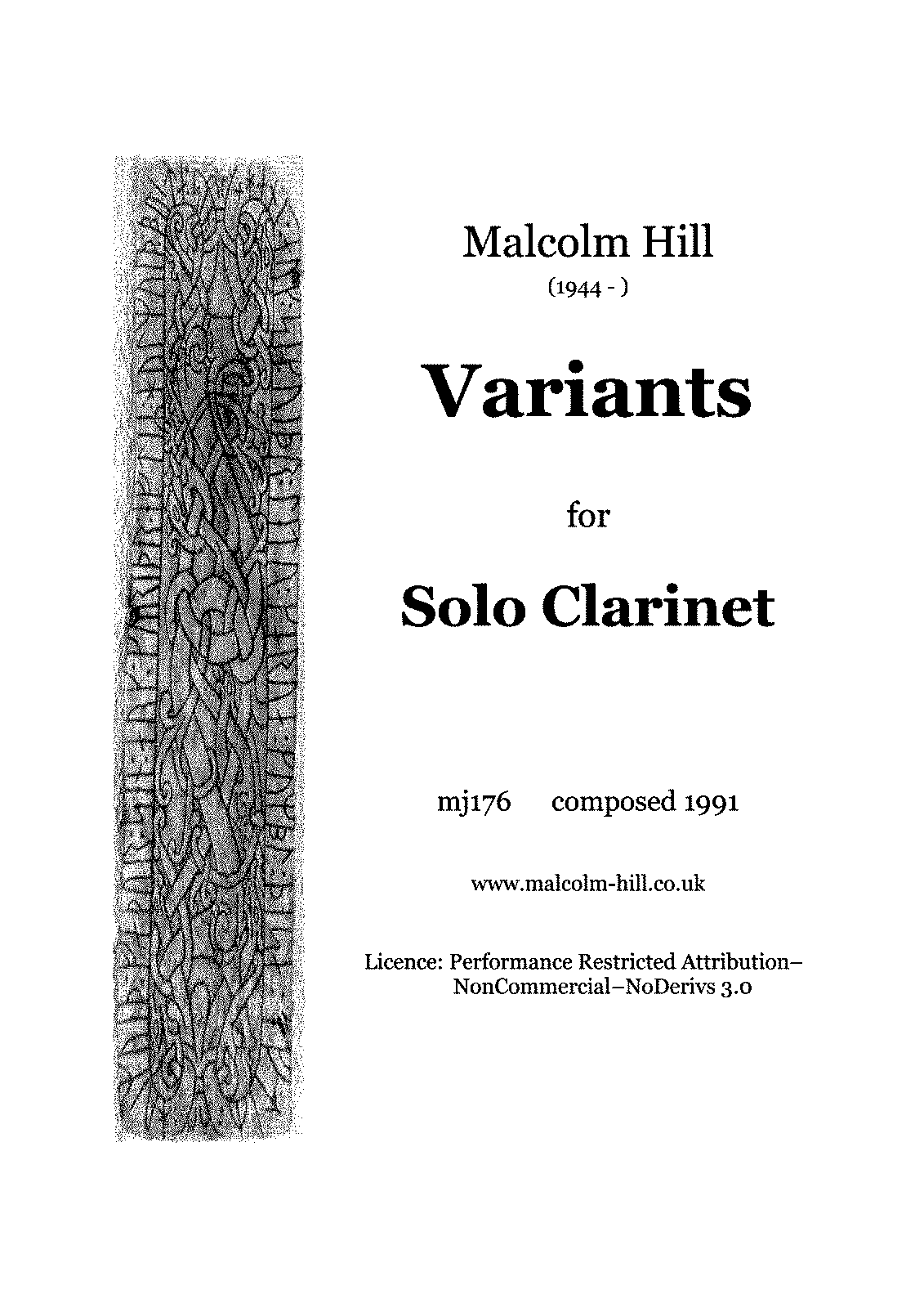 PMLP645262-Variants for Solo Clarinet, mj176 (Hill, Malcolm).pdf