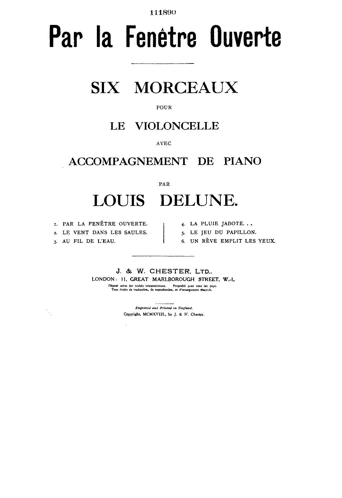 PMLP136101-Delune - Par la Fenetre Ouverte from 6 Morceaux for Cello and Piano score.pdf