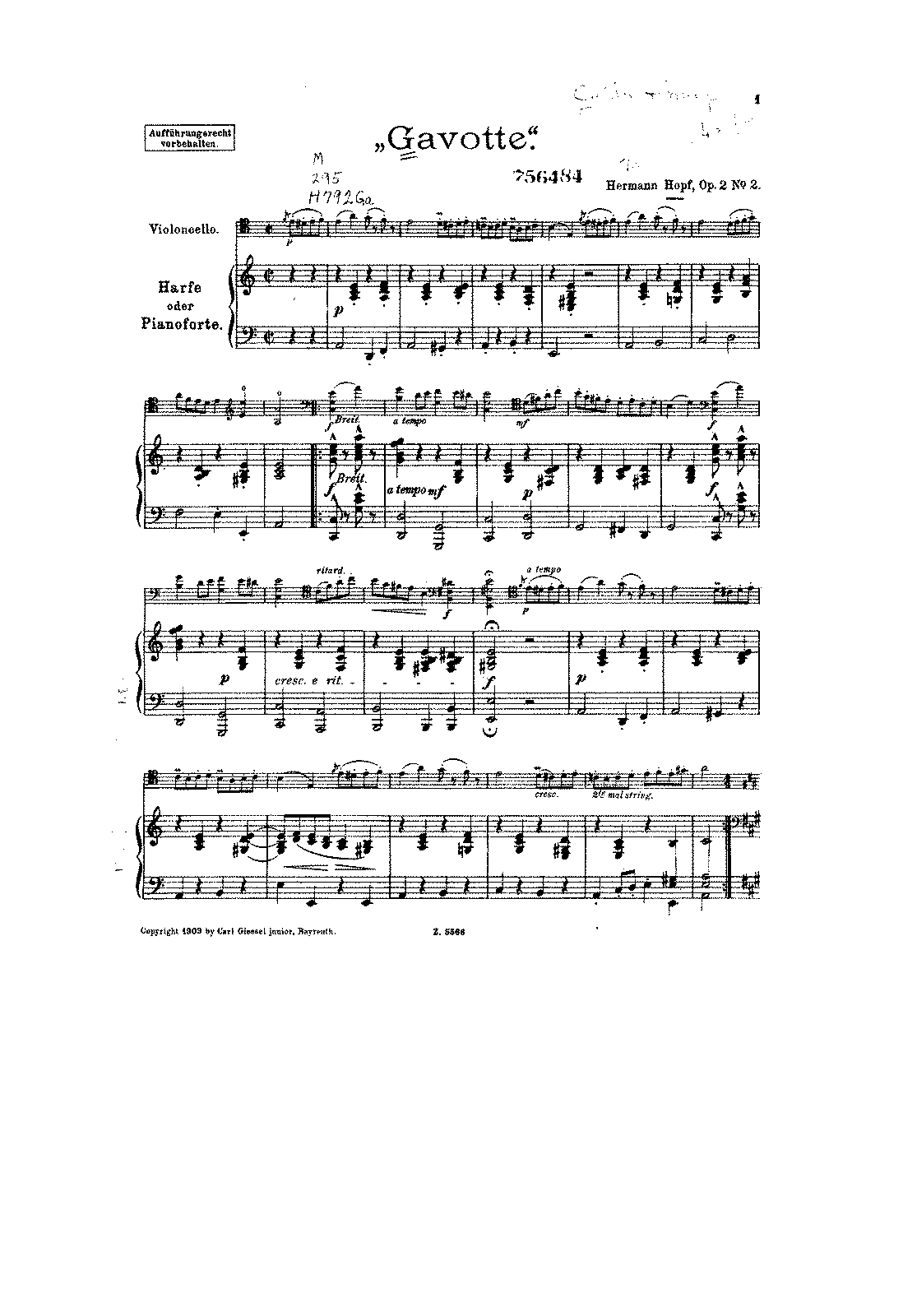 PMLP136620-Hopf - Gavotte for Cello and Harp or Piano Op2 No2 score.pdf